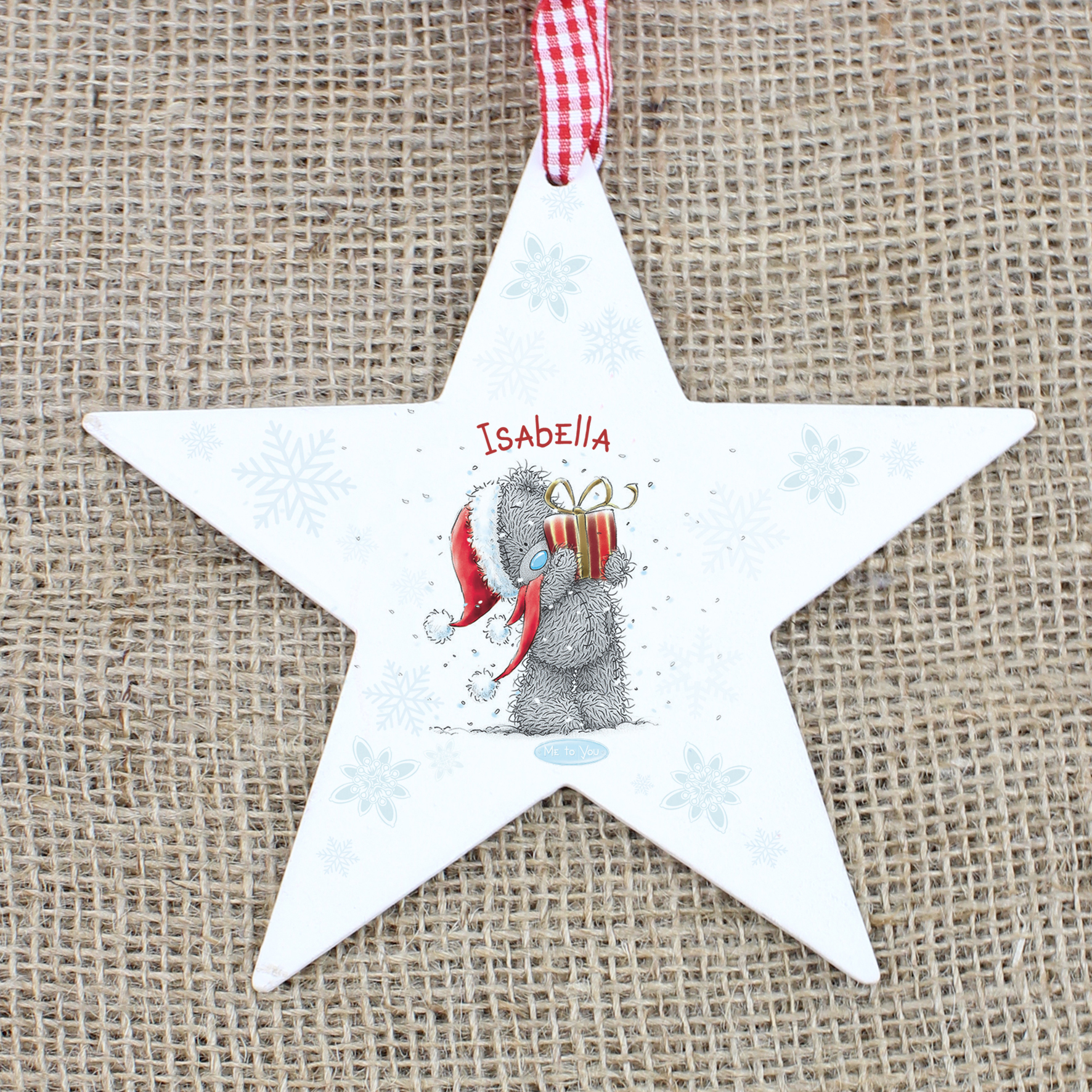 Personalised Me to You Wooden Star Shaped Decoration
