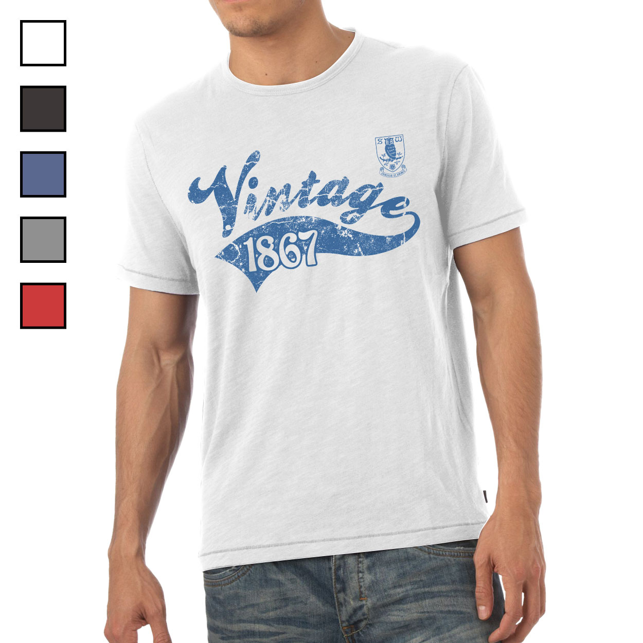 Sheffield Wednesday FC Mens Vintage T-Shirt