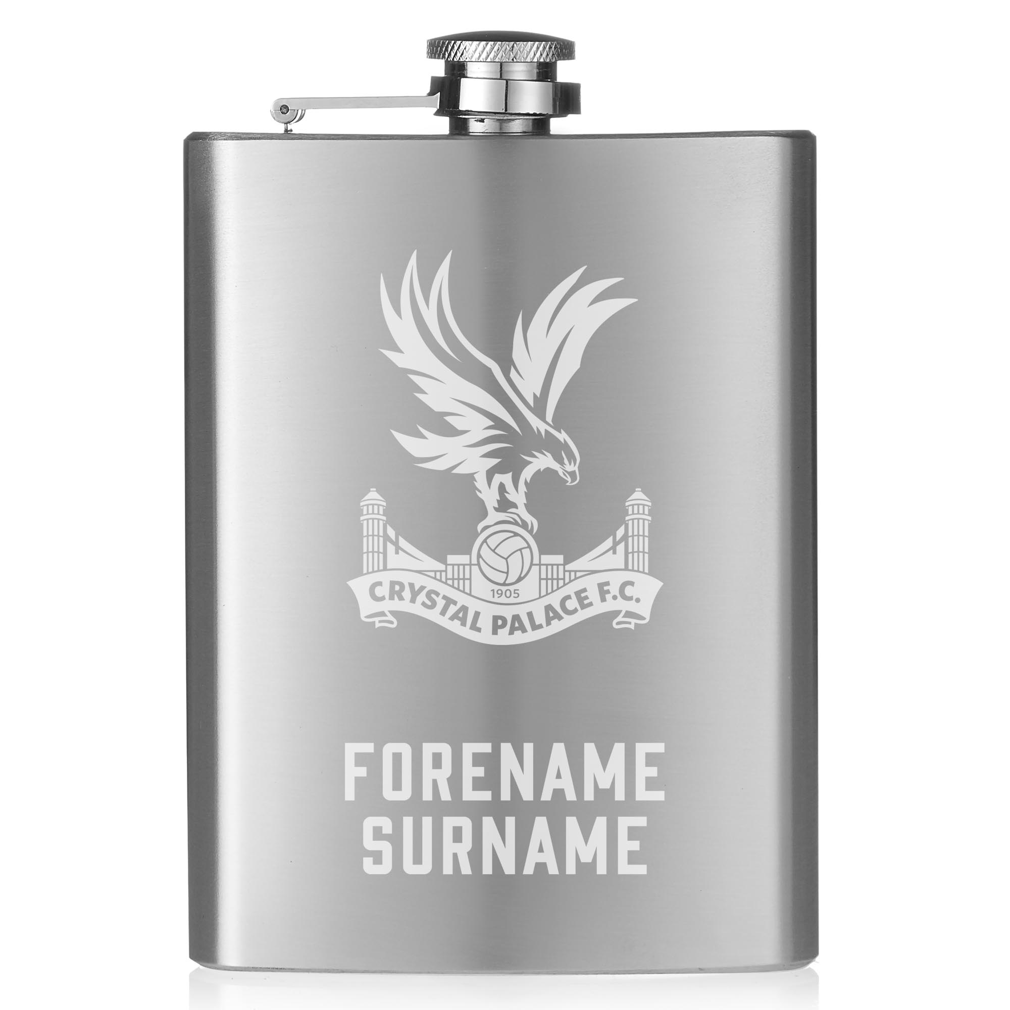Crystal Palace FC Crest Hip Flask