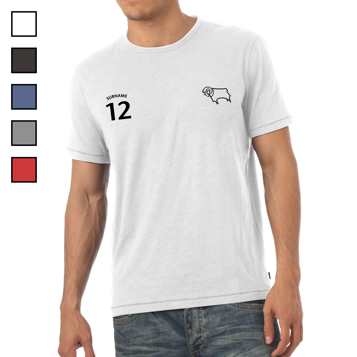 Derby County Mens Sports T-Shirt