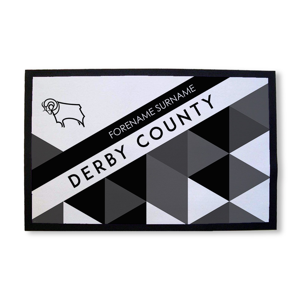 Derby County Patterned Door Mat