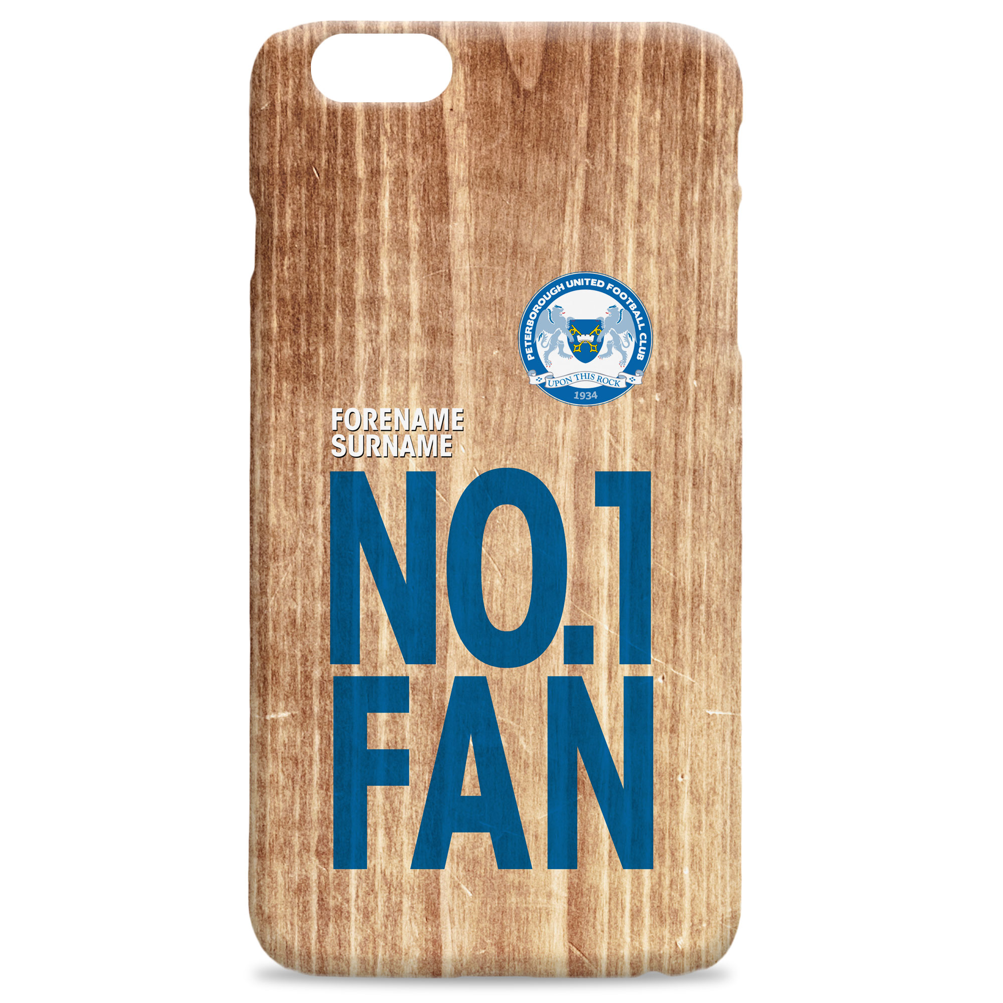 Peterborough United FC No 1 Fan Hard Back Phone Case
