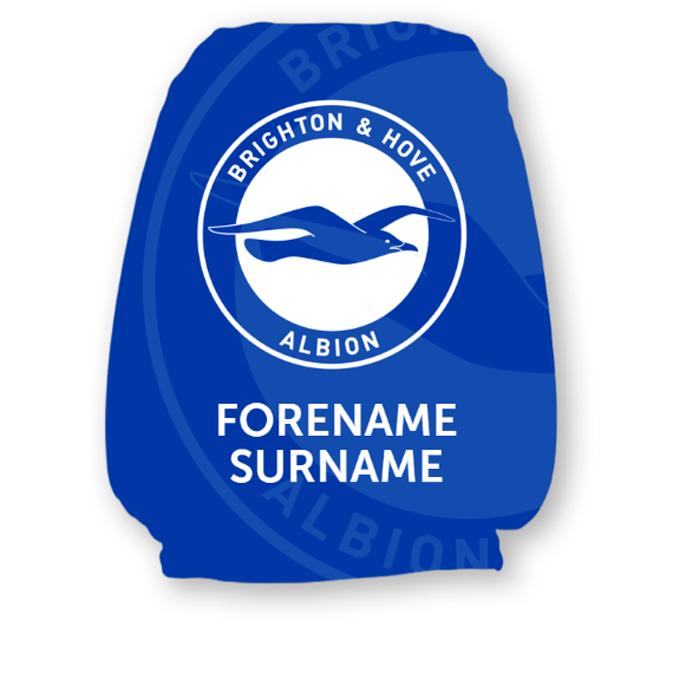 Brighton & Hove Albion FC Mono Crest Headrest Cover