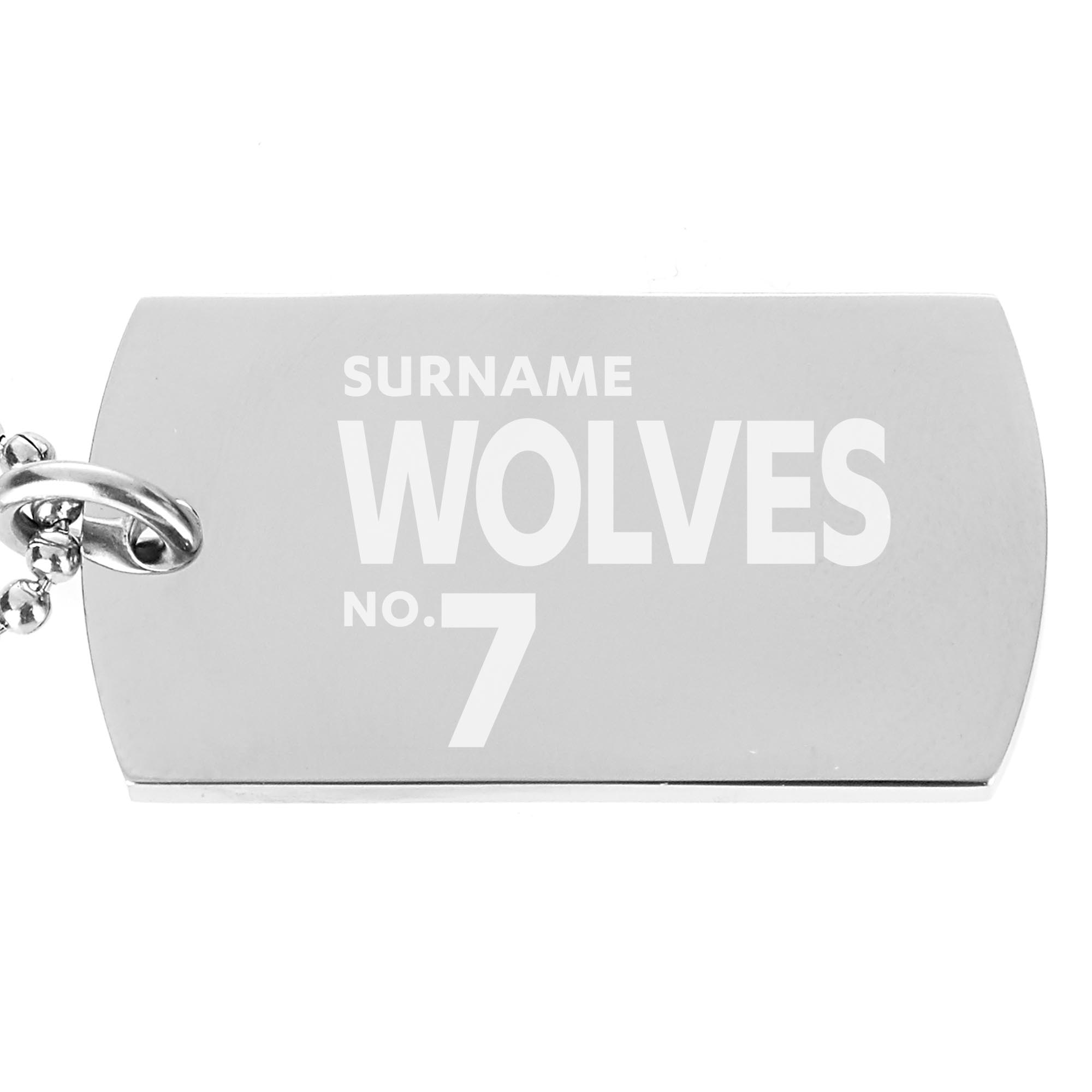 Wolves Number Dog Tag Pendant