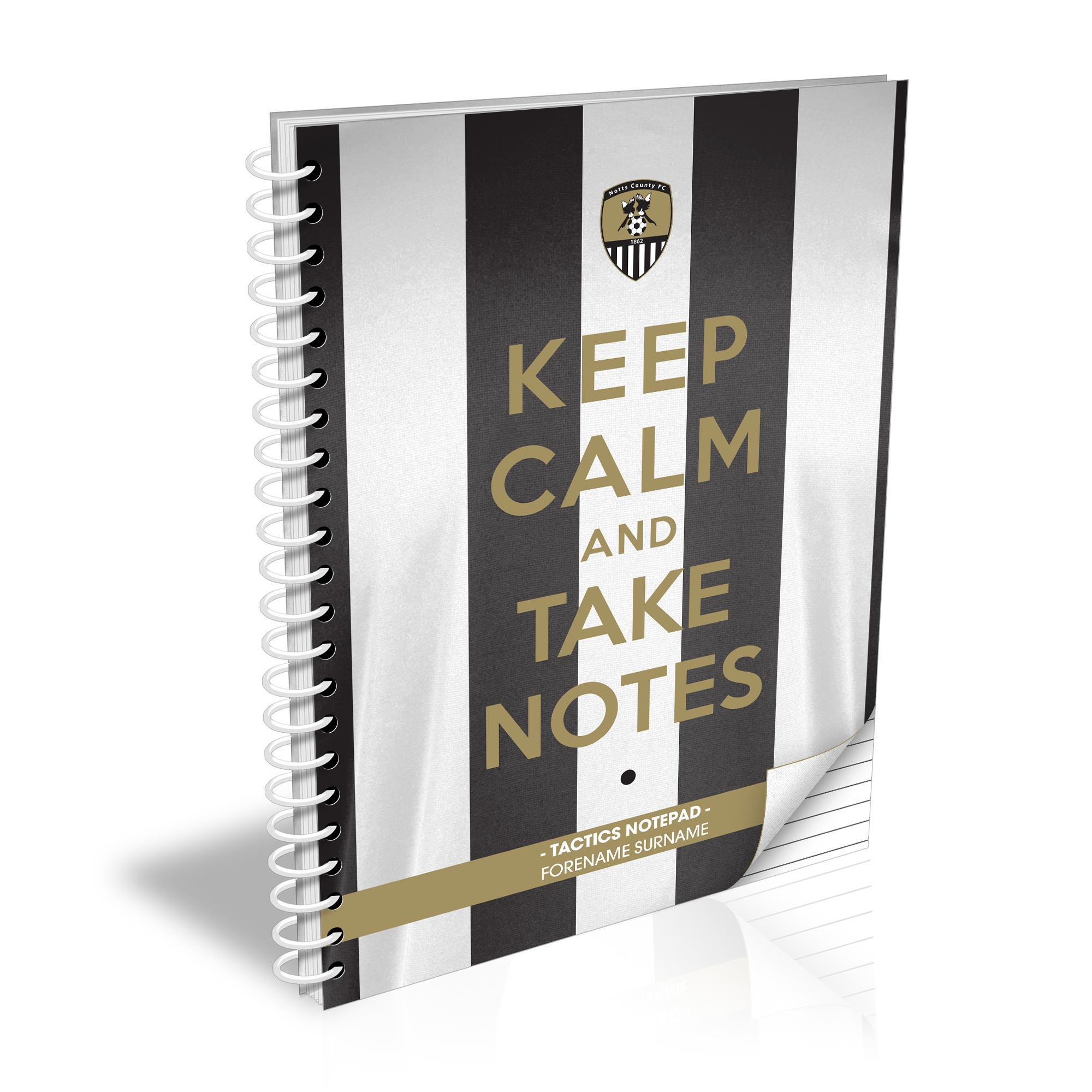 Notts County FC Keep Calm Notebook
