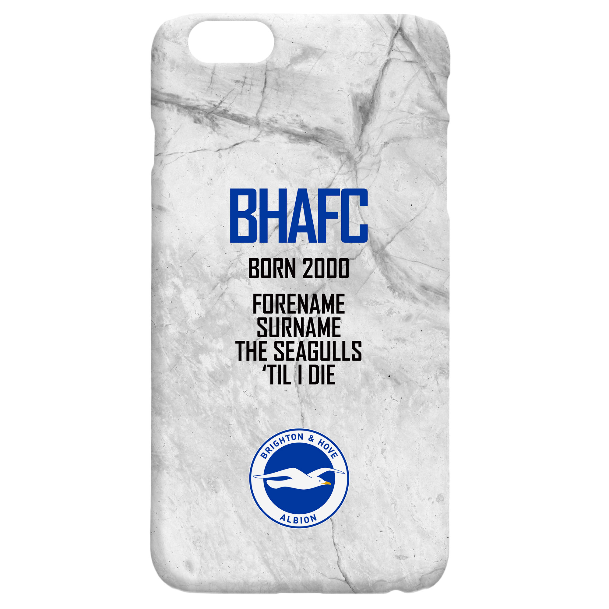 Brighton & Hove Albion FC 'Til I Die Hard Back Phone Case