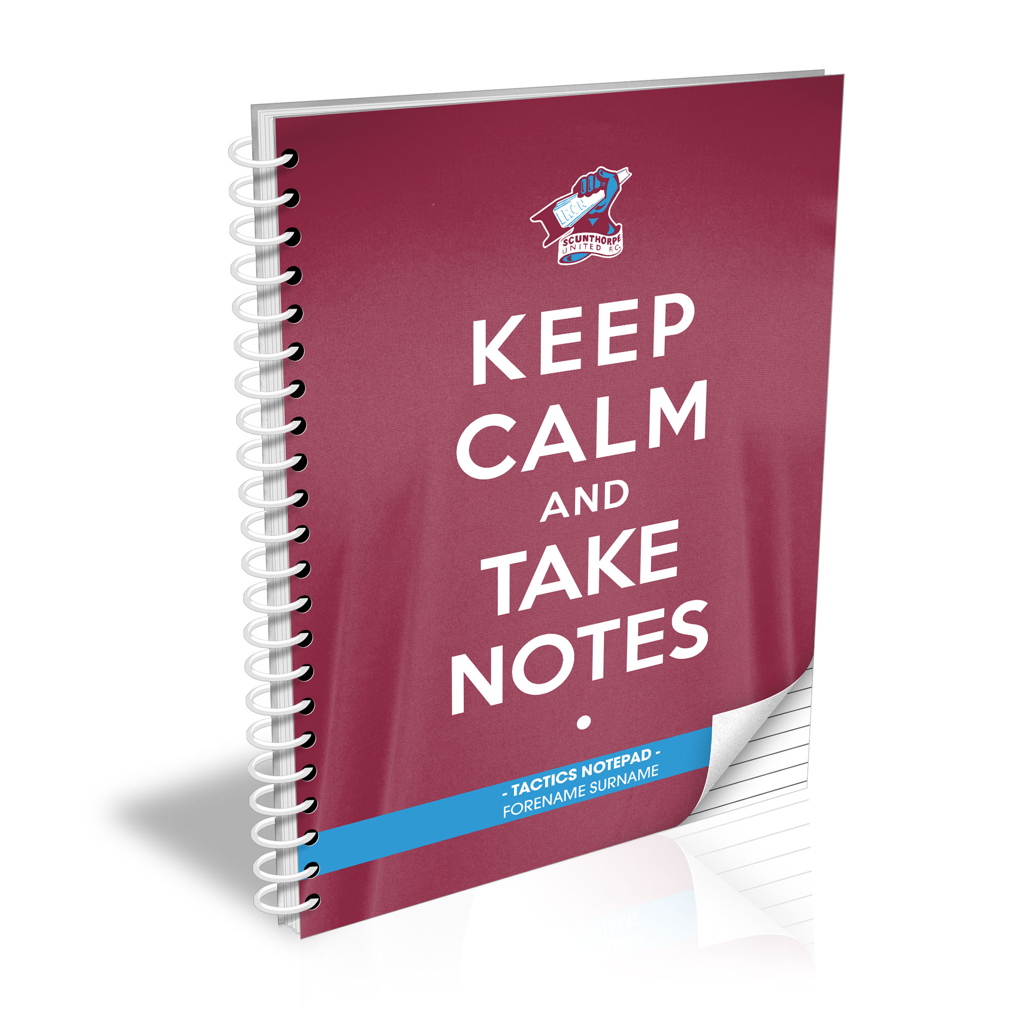 Scunthorpe United FC Keep Calm Notebook