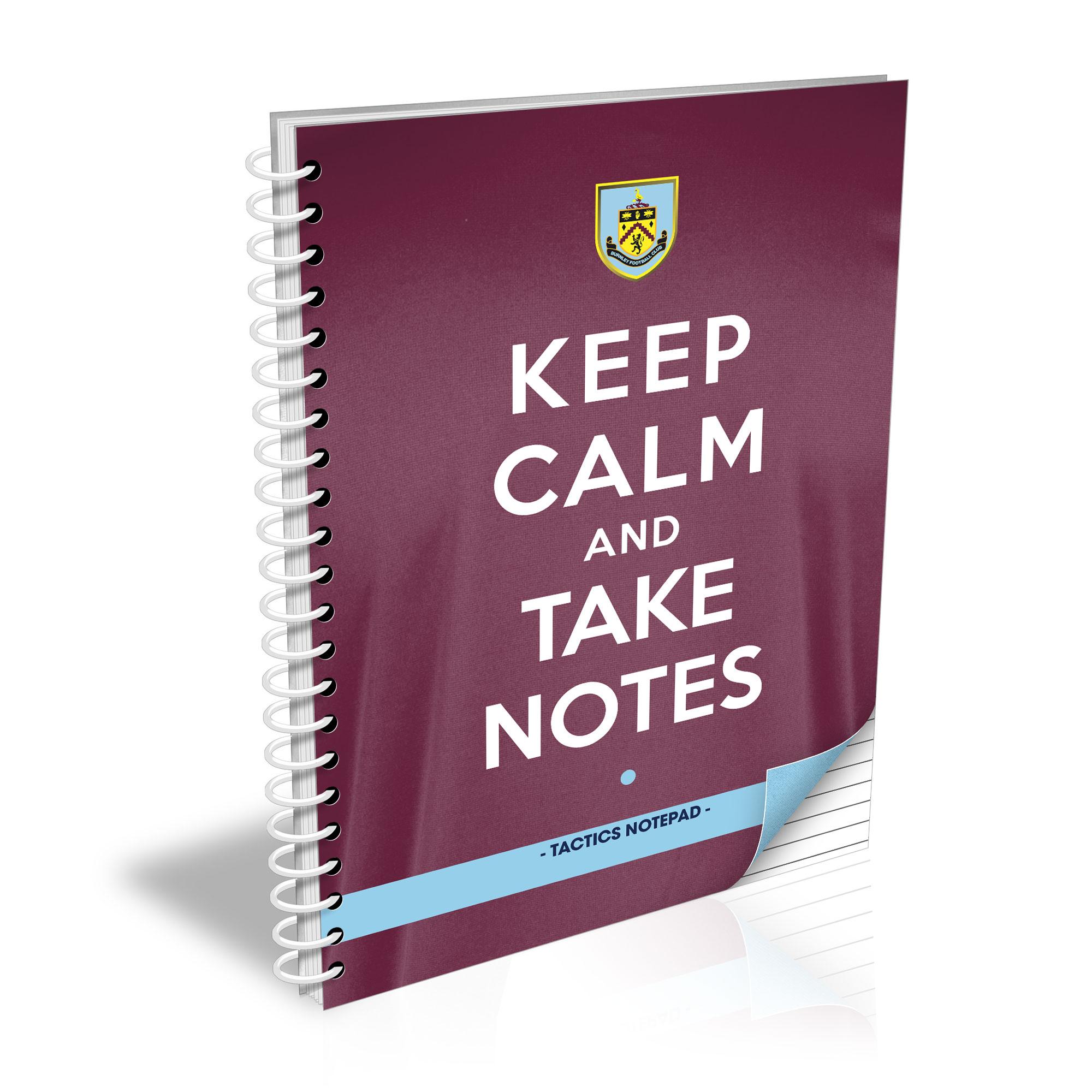 Burnley FC Keep Calm Notebook