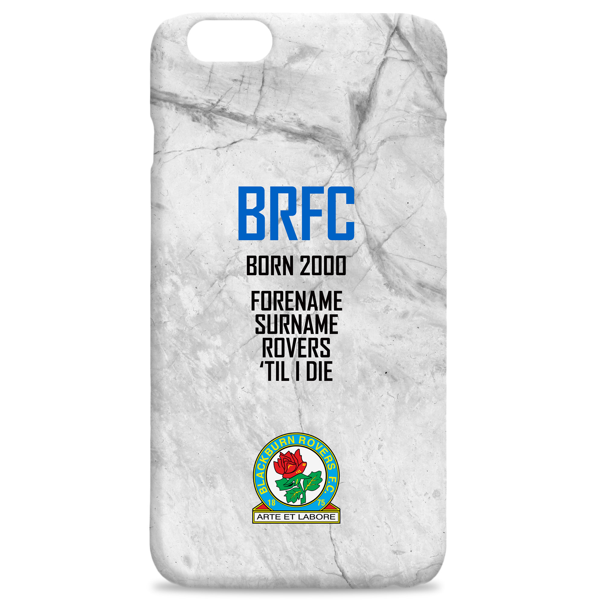 Blackburn Rovers FC 'Til I Die Hard Back Phone Case