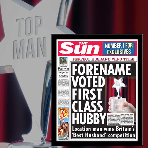 The Sun Best Husband News Single Page Print