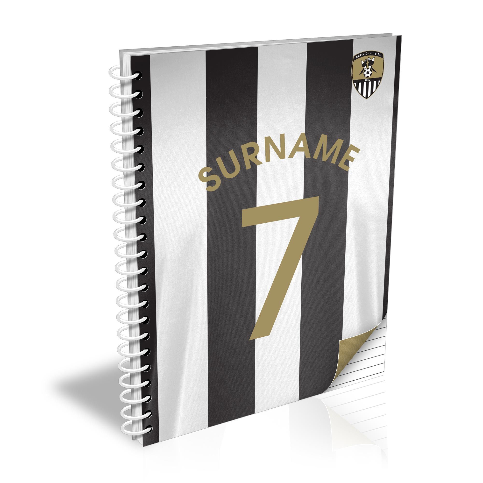 Notts County FC Shirt Notebook