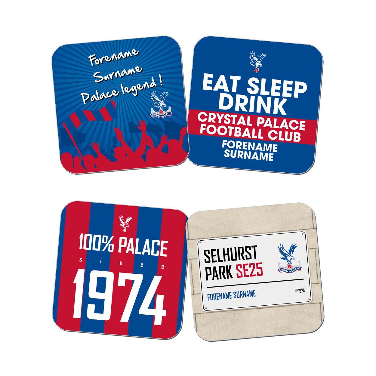 Crystal Palace FC Coasters