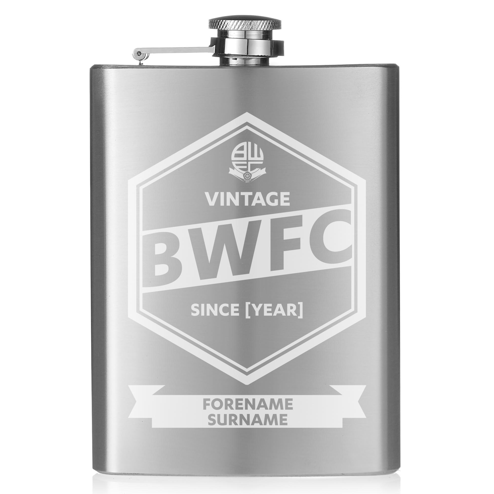 Bolton Wanderers FC Vintage Hip Flask