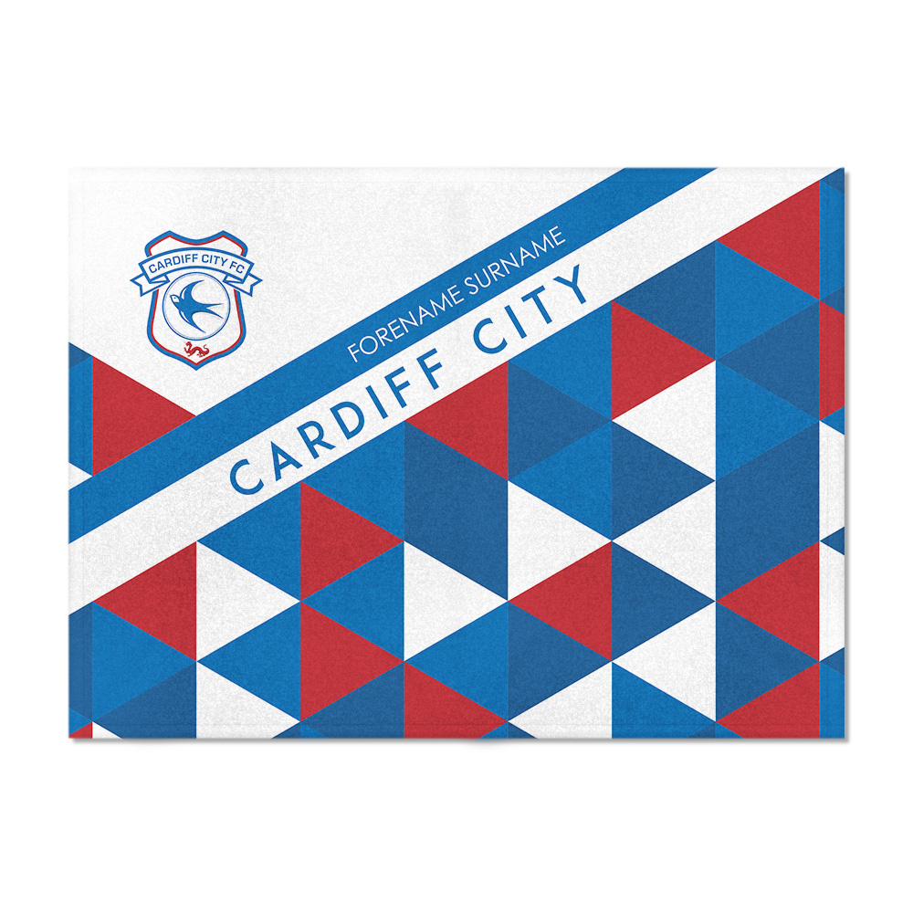 Cardiff City FC Patterned Blanket (100cm X 75cm)