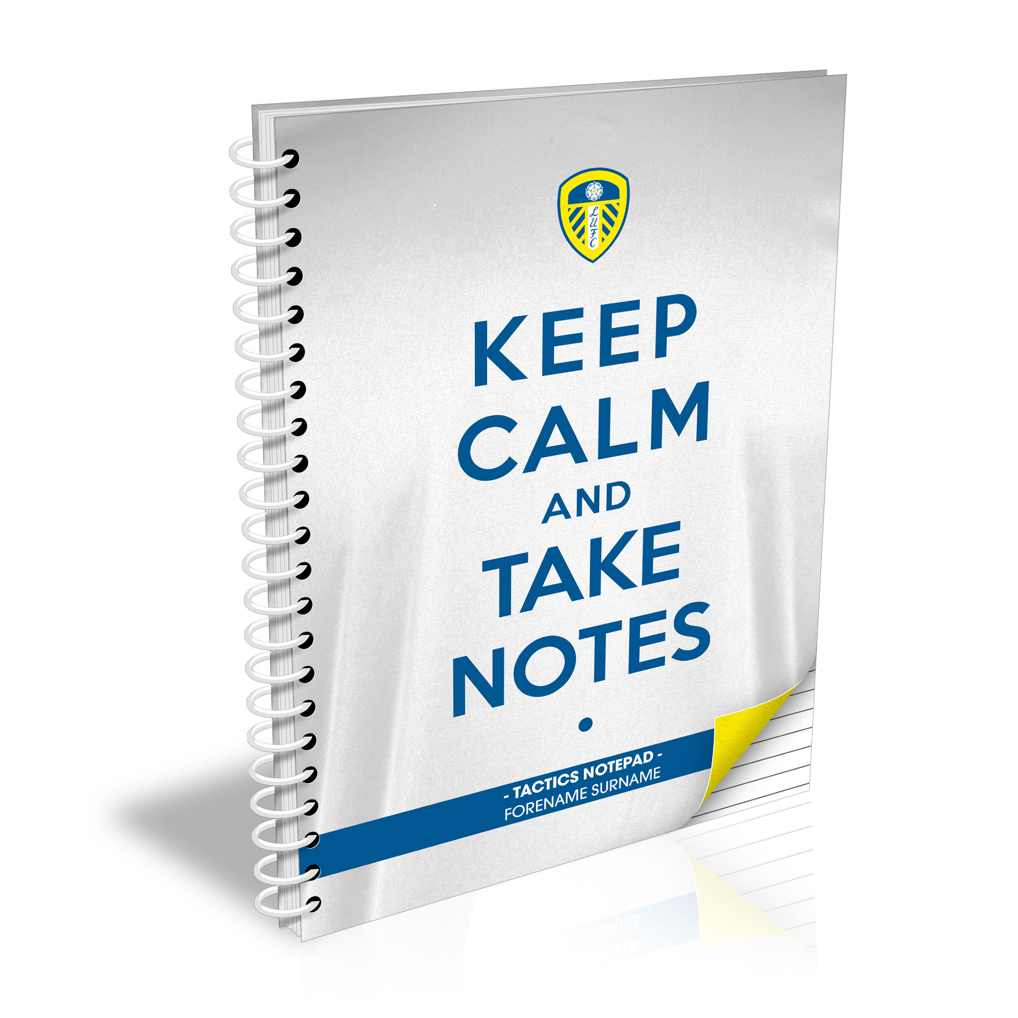Leeds United FC Keep Calm Notebook