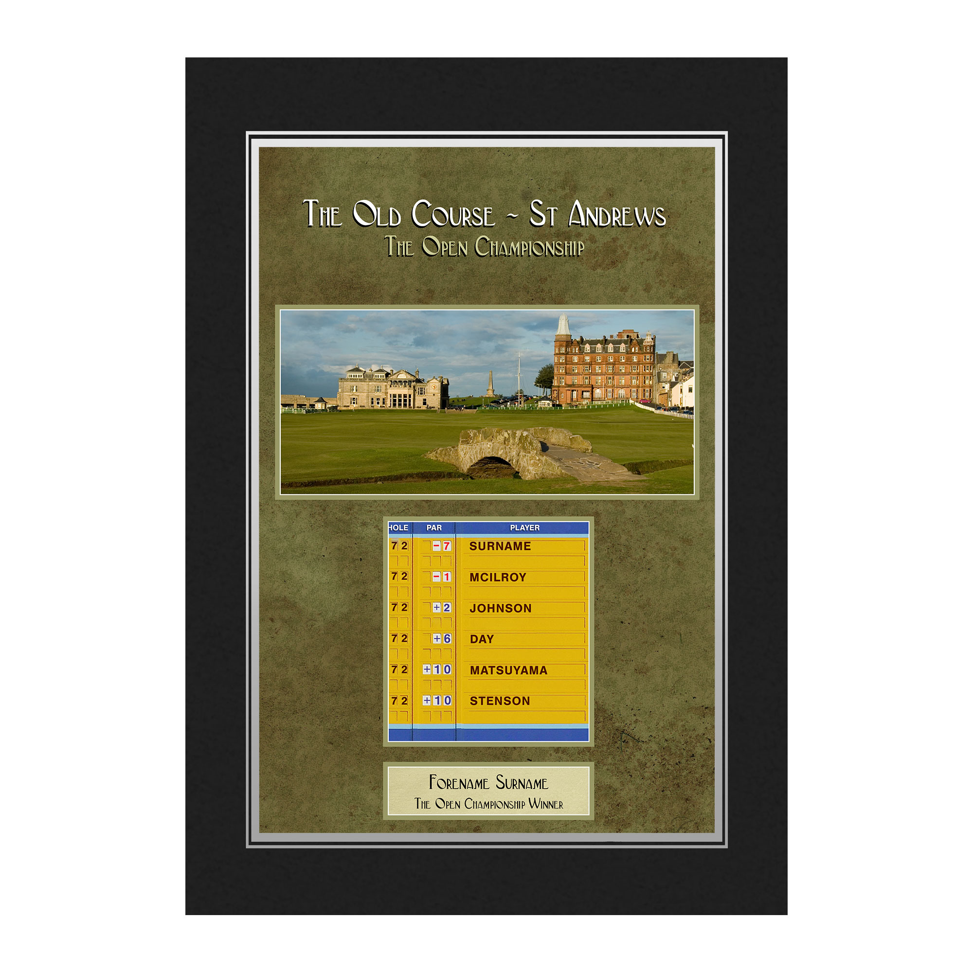 Personalised Open St Andrews Photo Folder