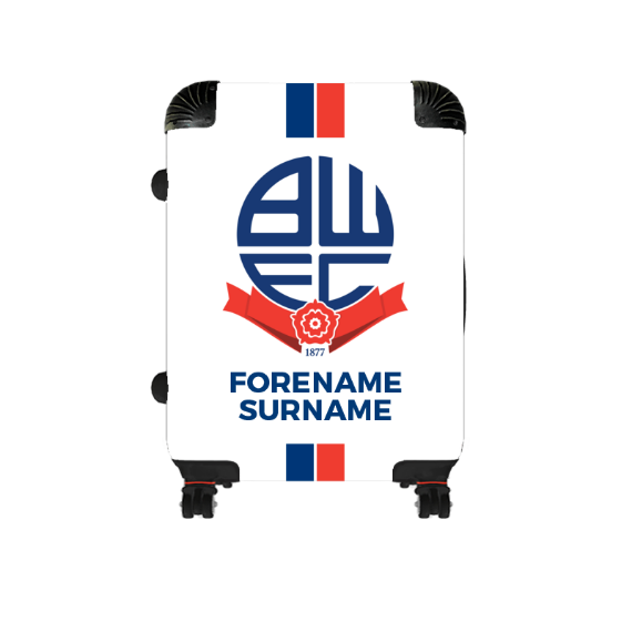 Bolton Wanderers FC Stripe Cabin Suitcase