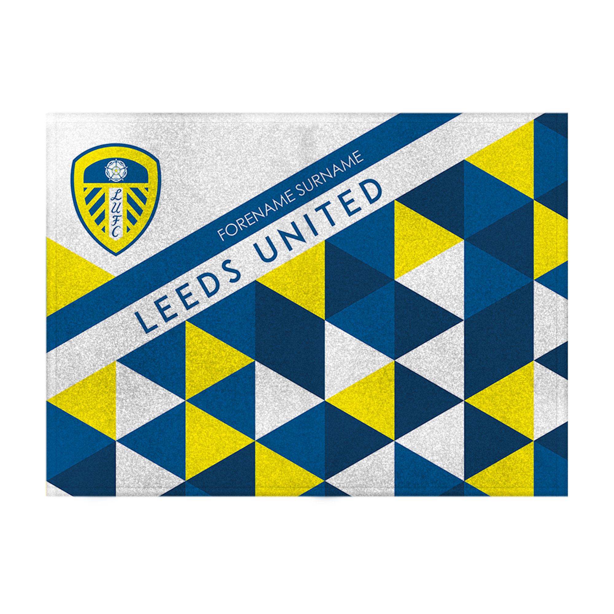 Leeds United FC Patterned Blanket (150cm x 110cm)