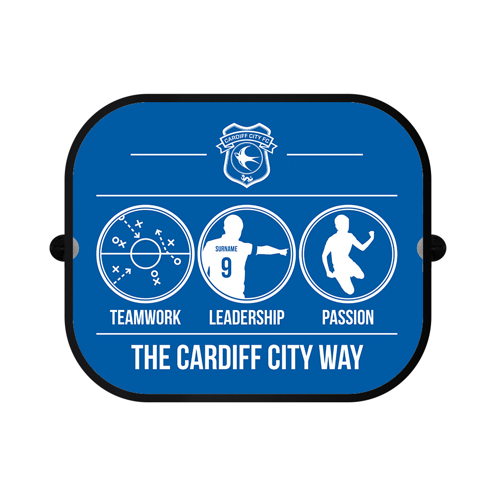 Cardiff City FC Way Car Sunshade