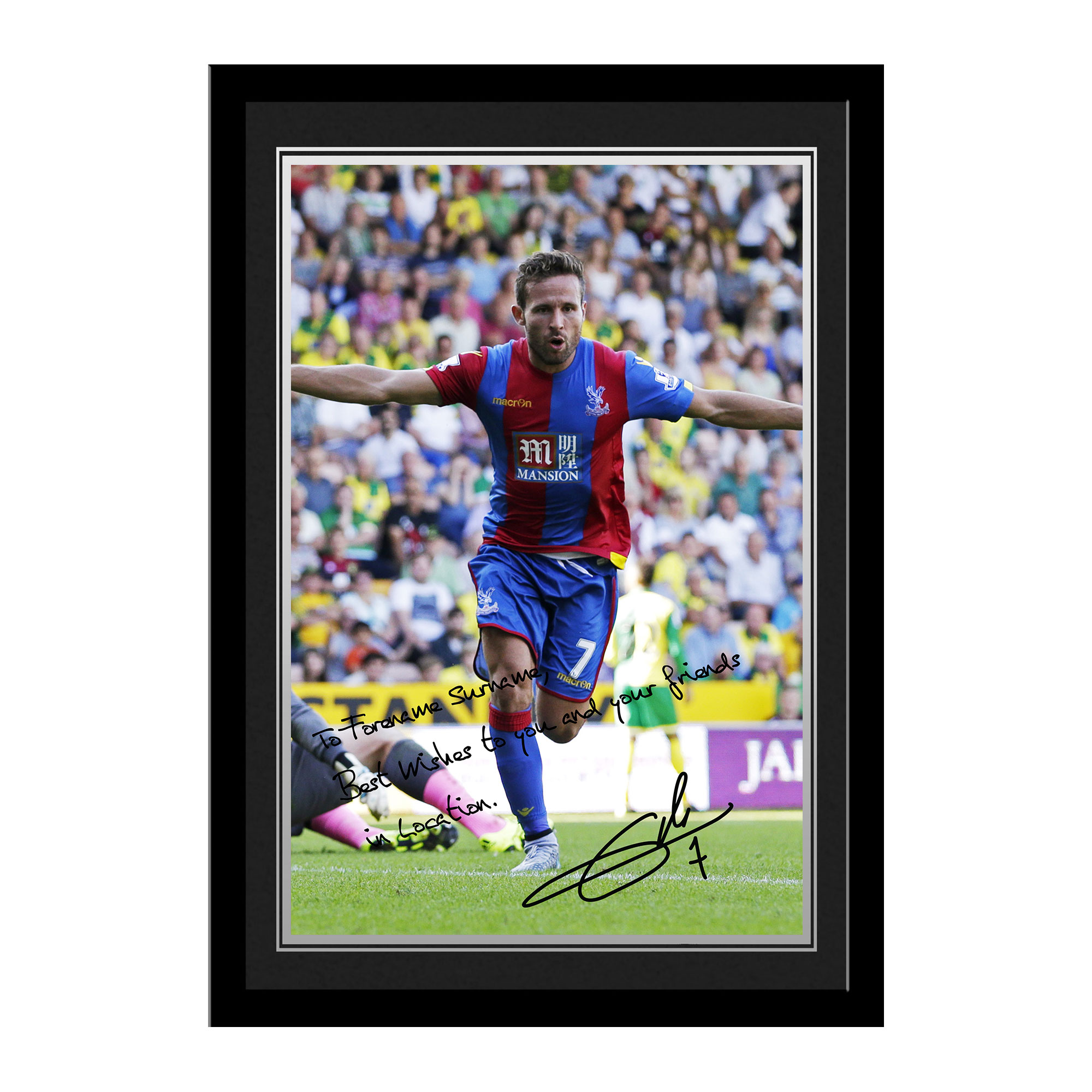 Crystal Palace FC Cabaye Autograph Photo Framed