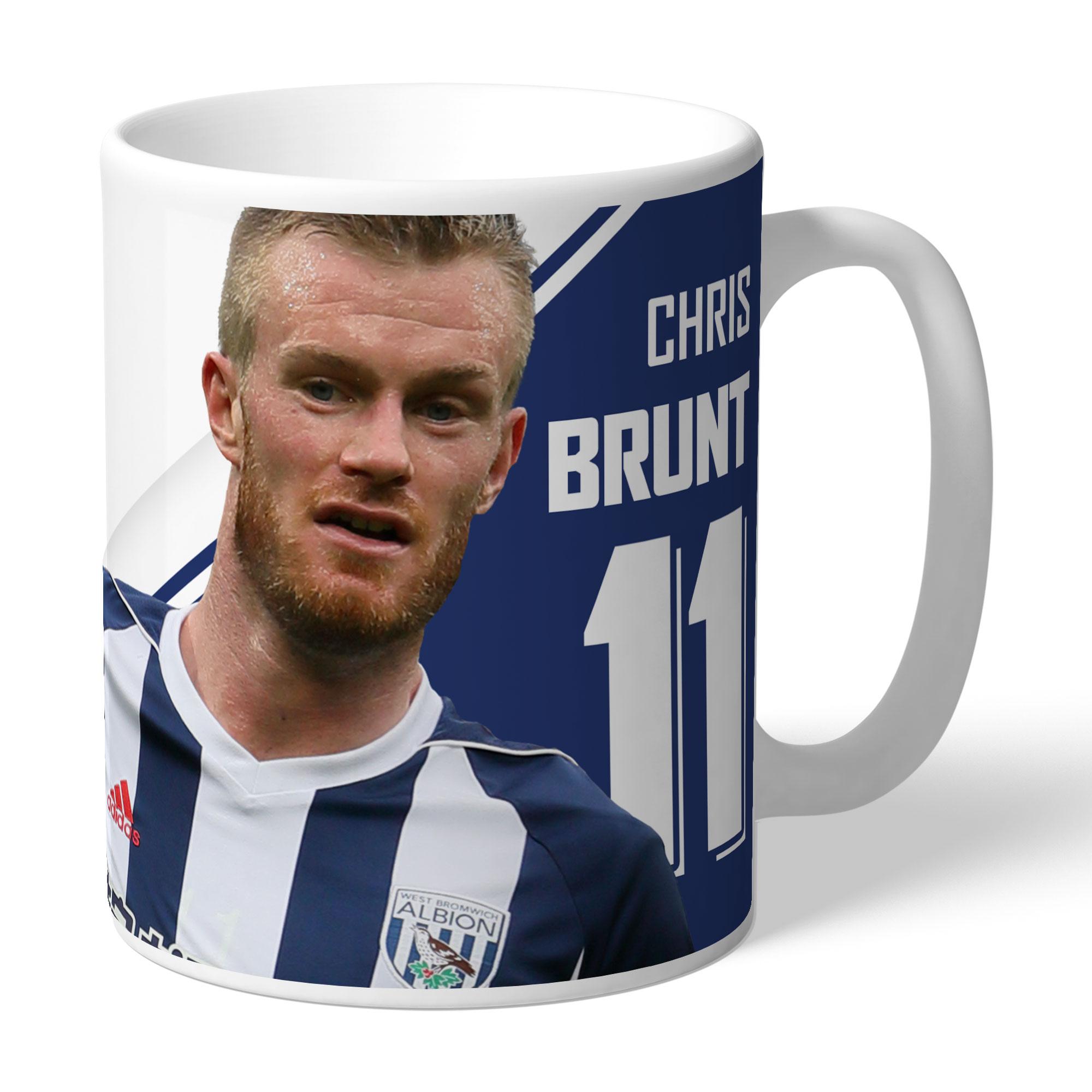 West Bromwich Albion FC Brunt Autograph Mug