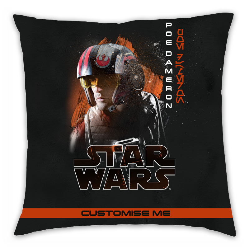 Star Wars Poe Dameron Last Jedi Spray Paint Cushion