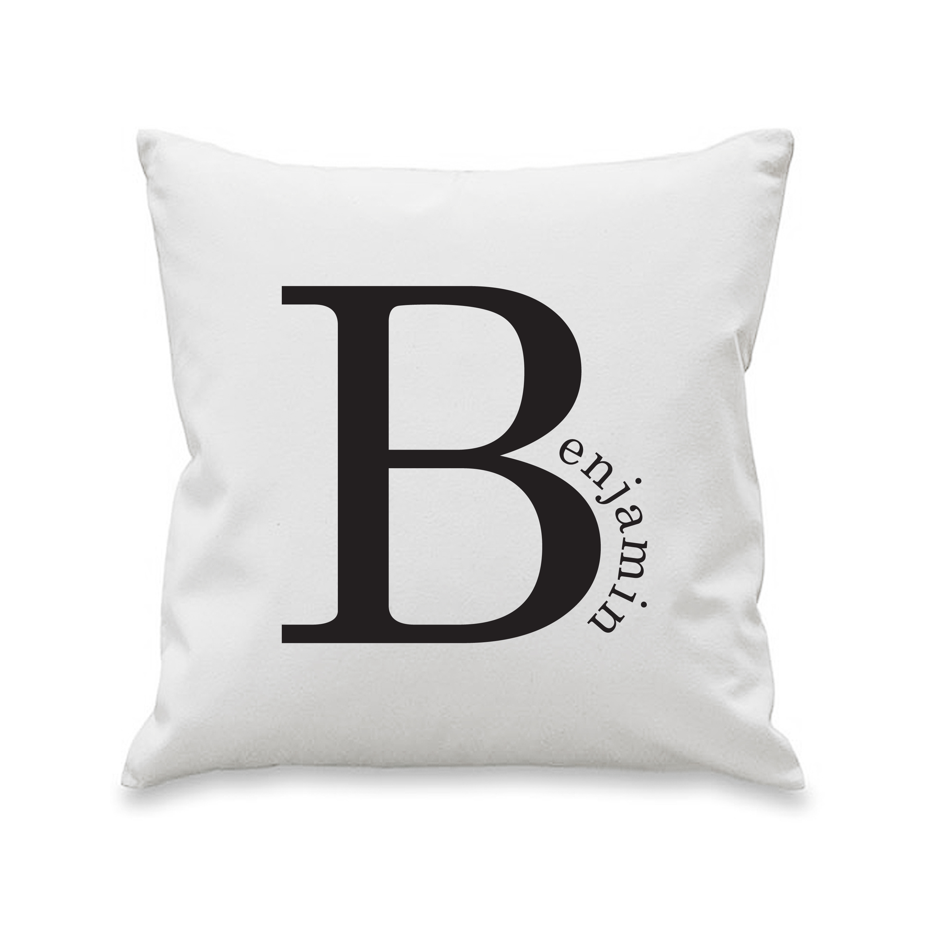 Personalised Name in Initial Cushion Cover