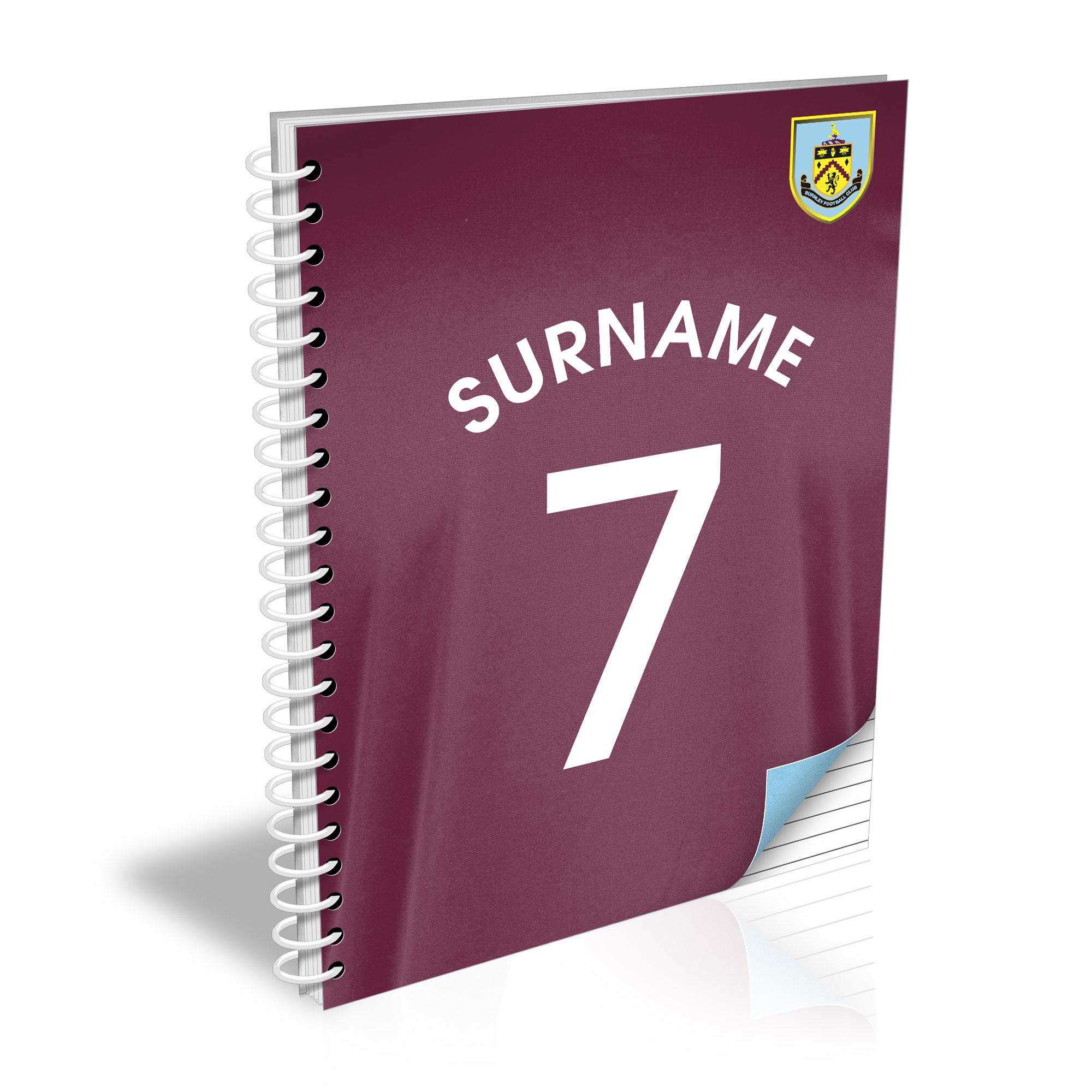 Burnley FC Shirt Notebook