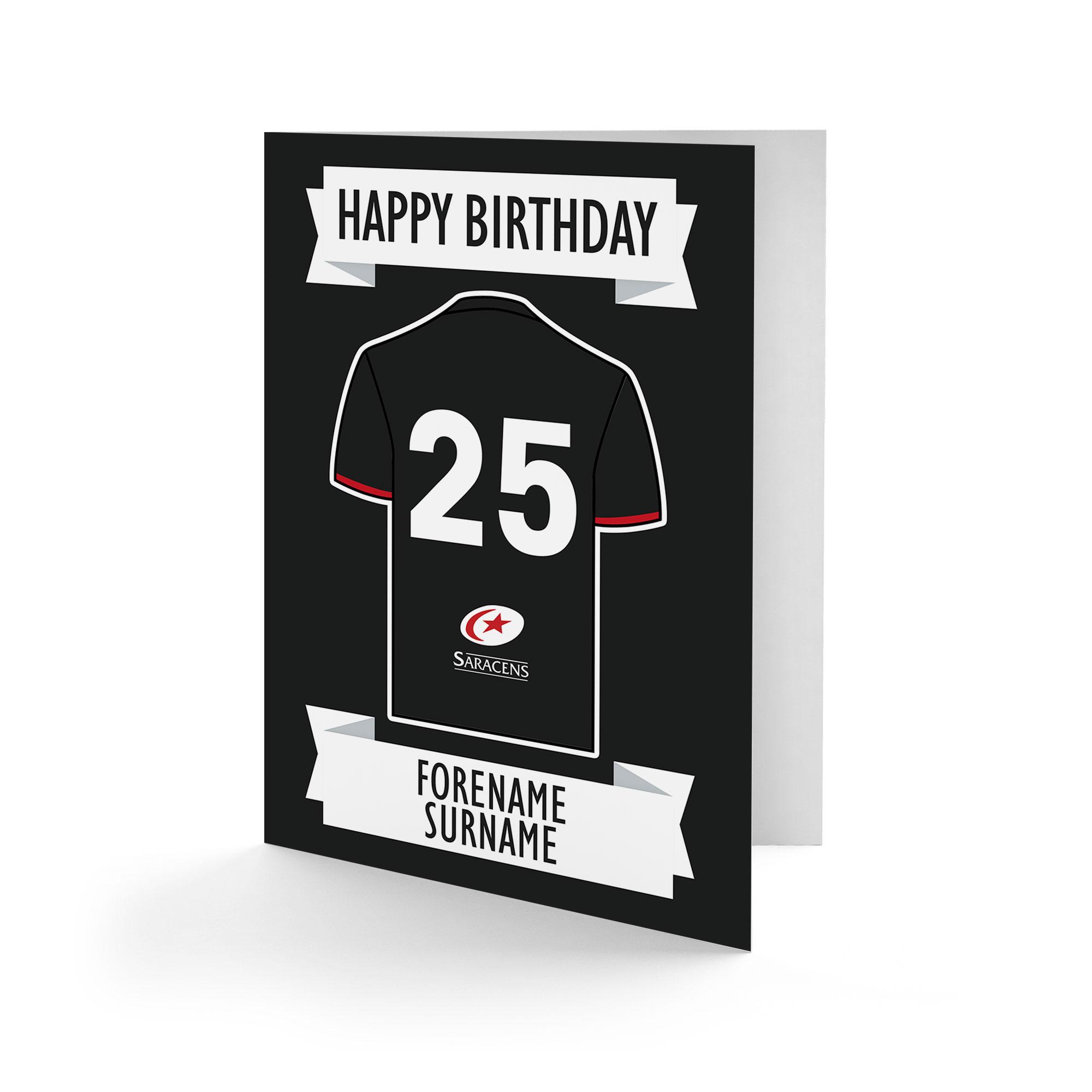 Saracens Shirt Birthday Card