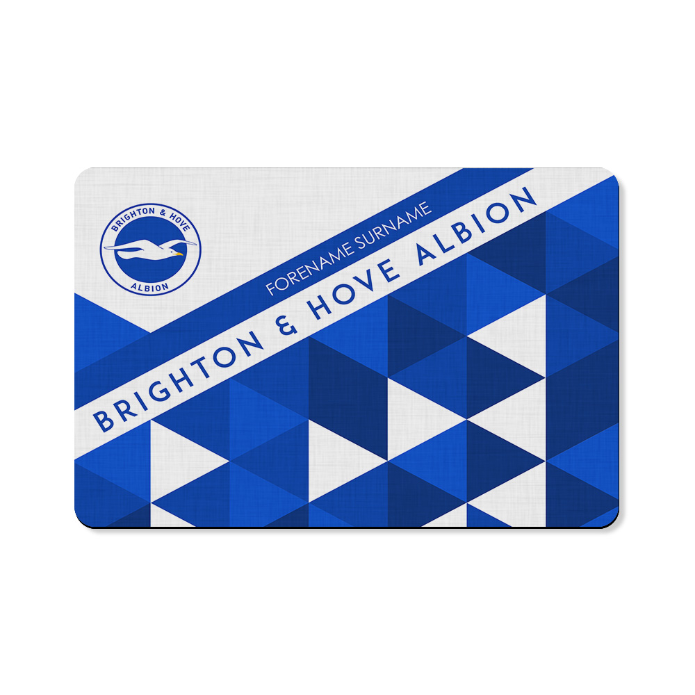 Brighton & Hove Albion FC Patterned Floor Mat