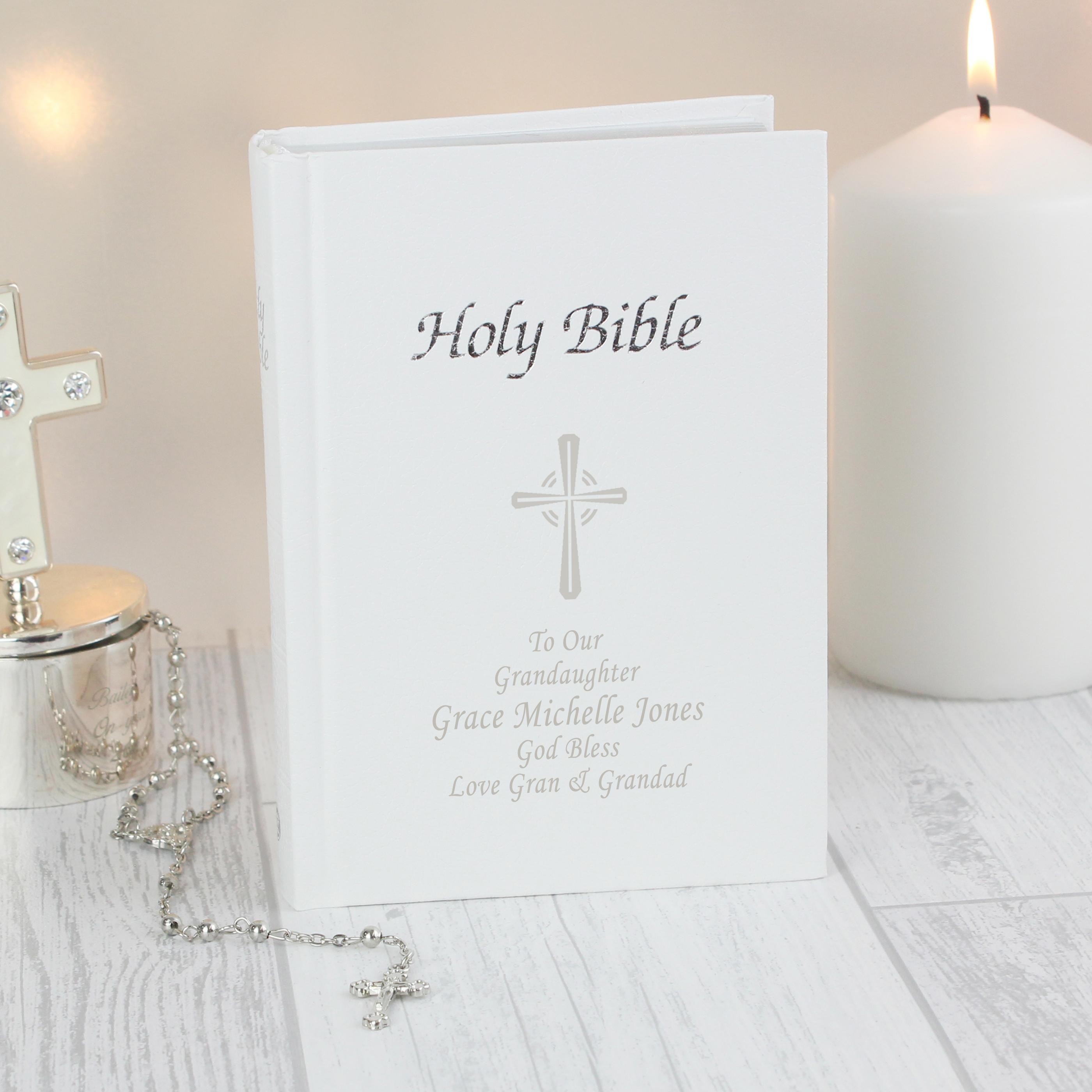 Personalised Christening Bible