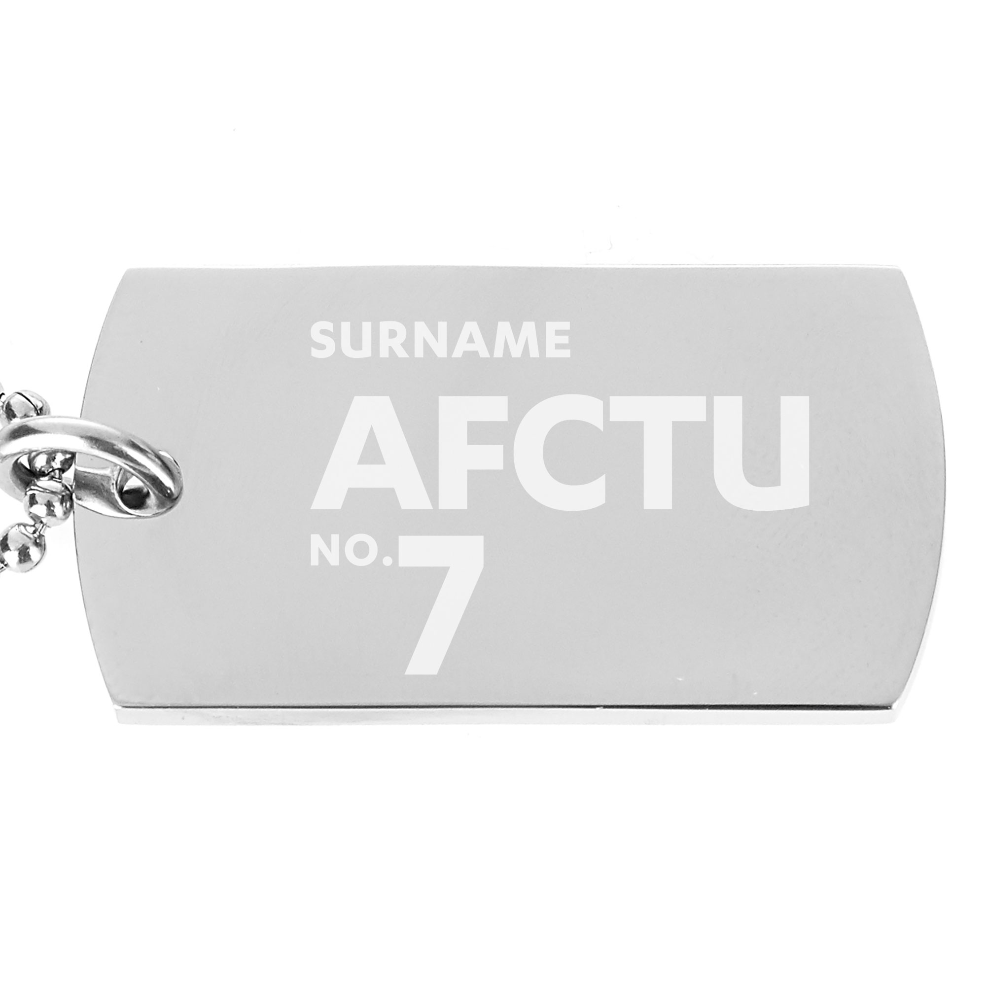 AFC Telford United Number Dog Tag Pendant