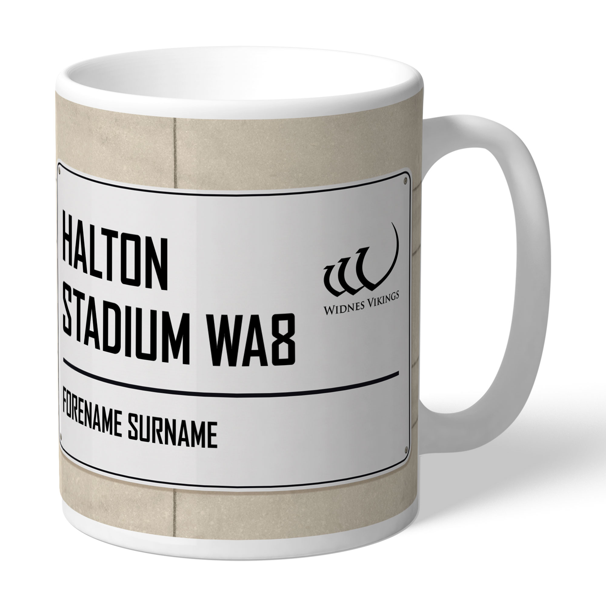 Widnes Vikings Street Sign Mug