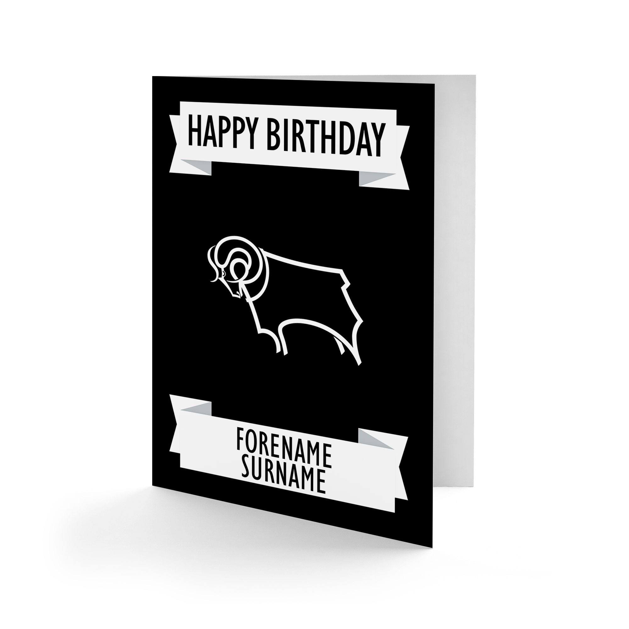 Derby County Crest Birthday Card