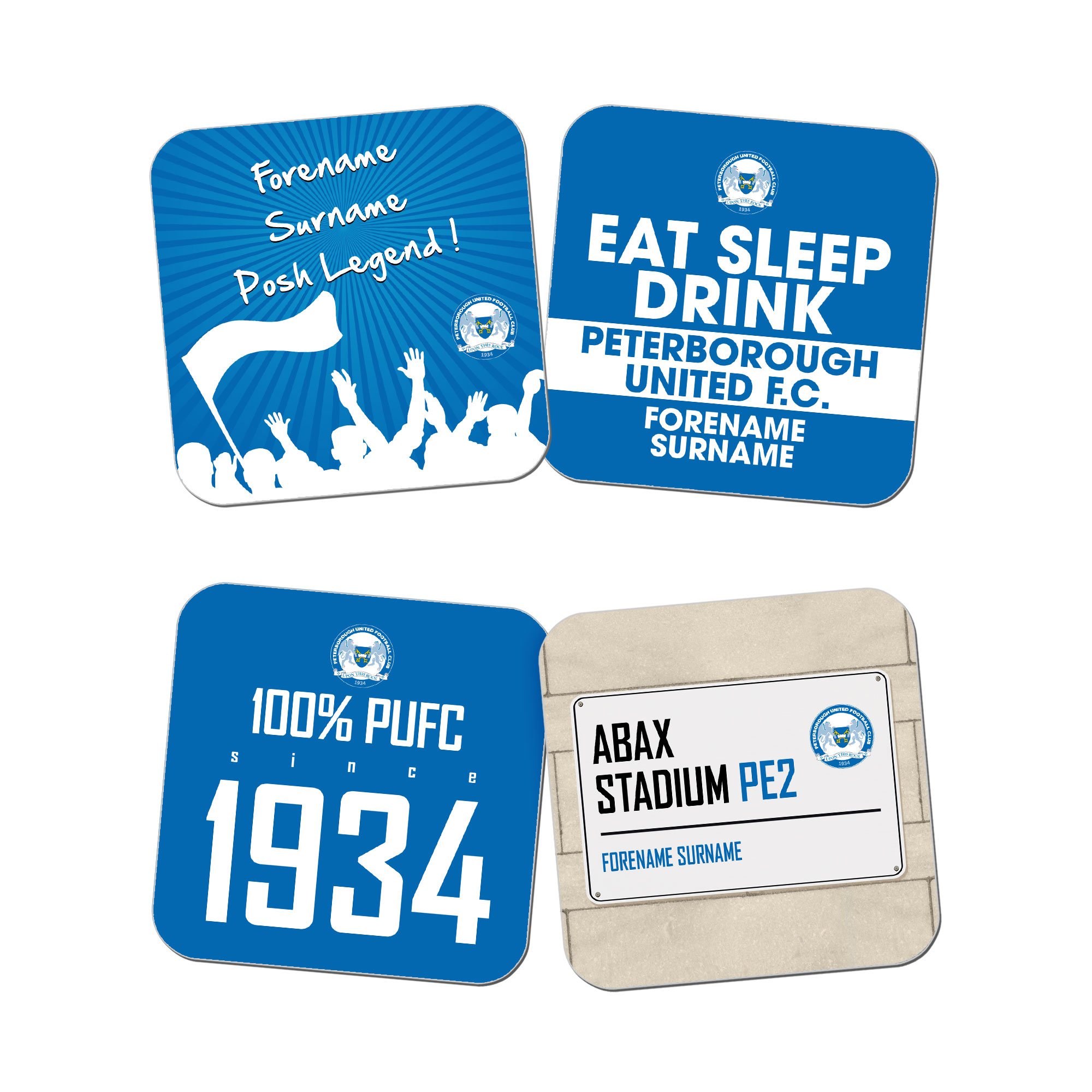 Peterborough United FC Coasters