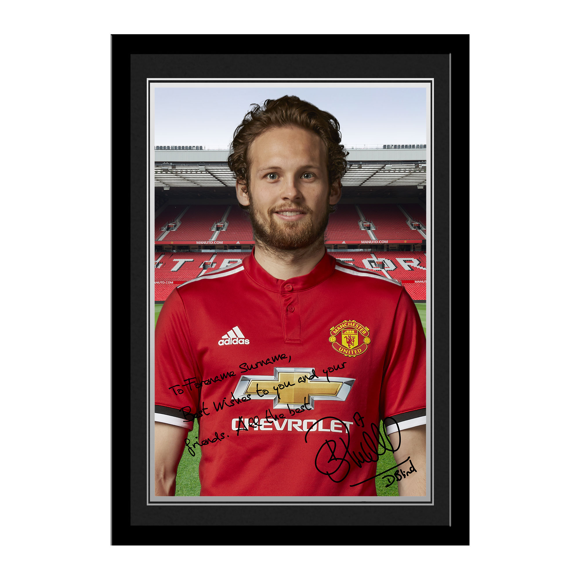 Manchester United FC Blind Autograph Photo Framed