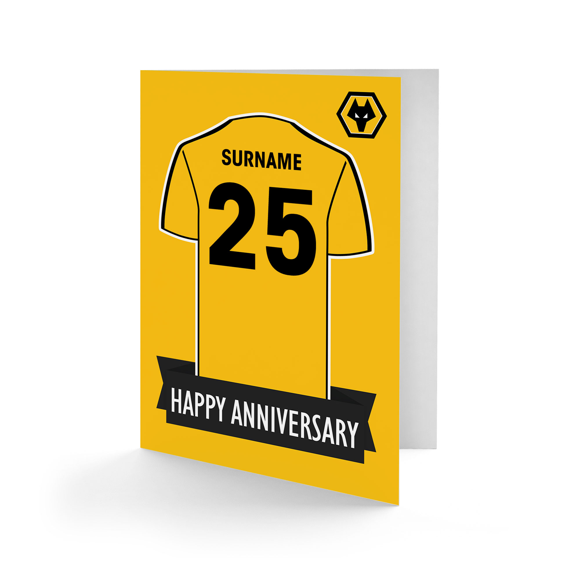 Wolves Shirt Anniversary Card