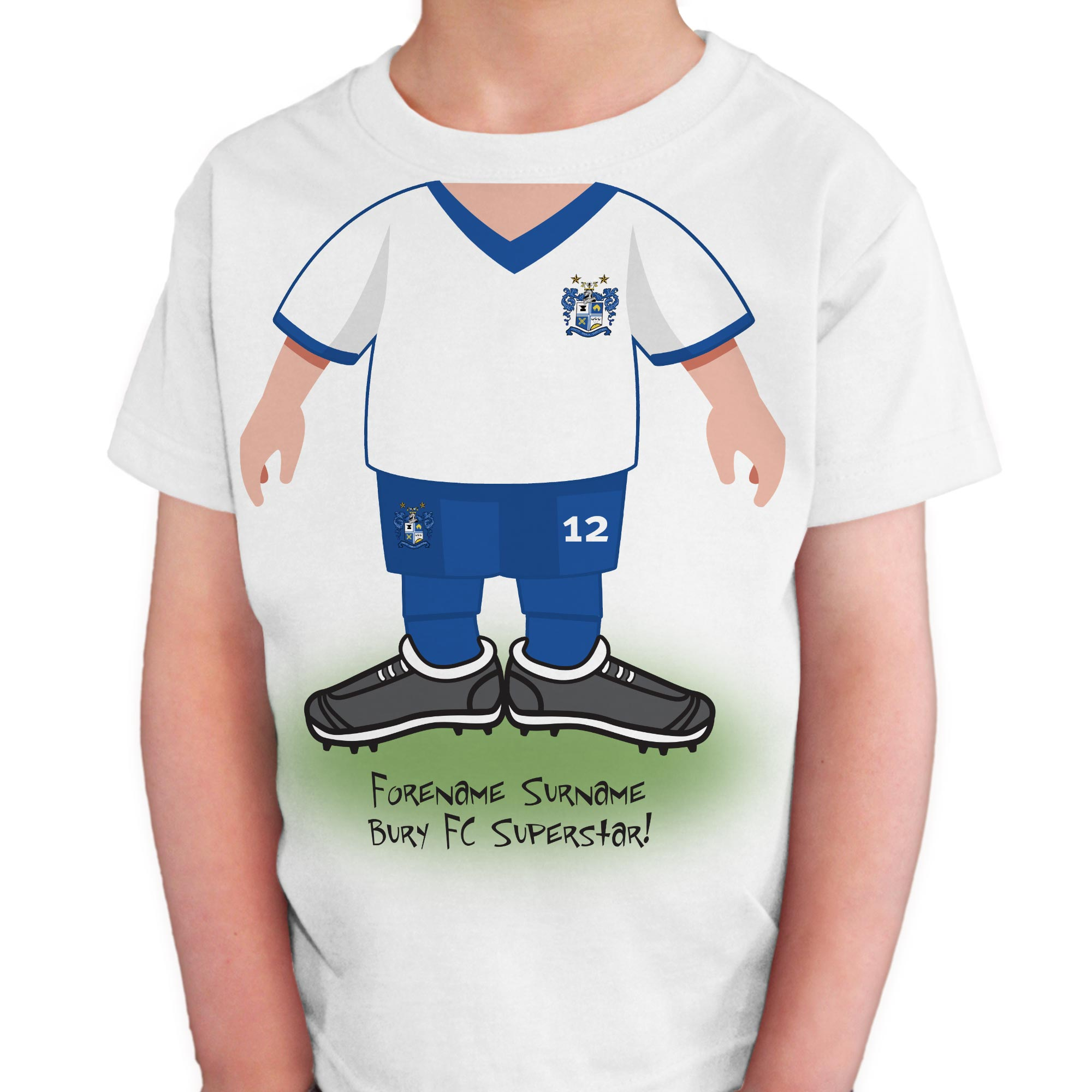 Bury FC Kids Use Your Head T-Shirt