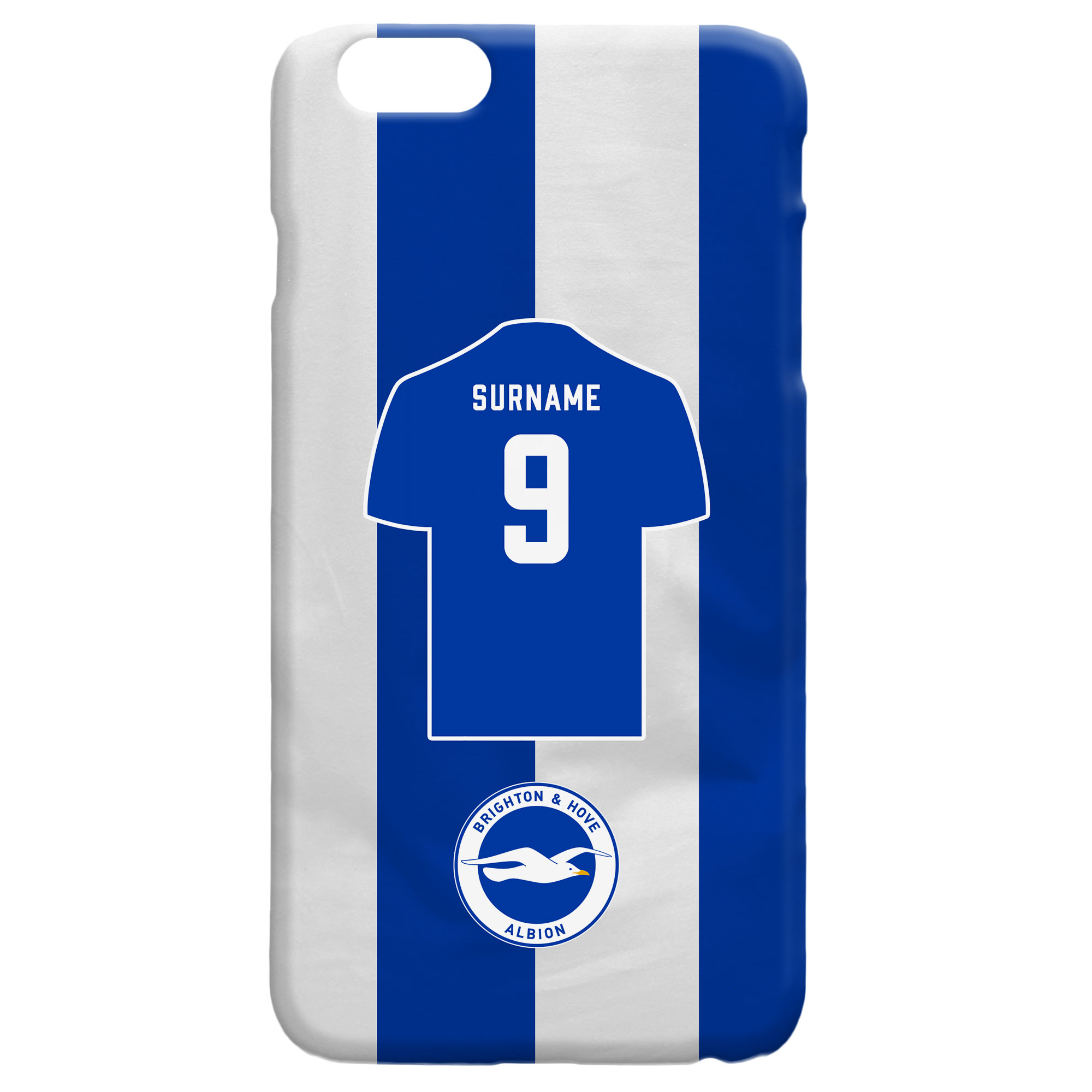 Brighton & Hove Albion FC Shirt Hard Back Phone Case