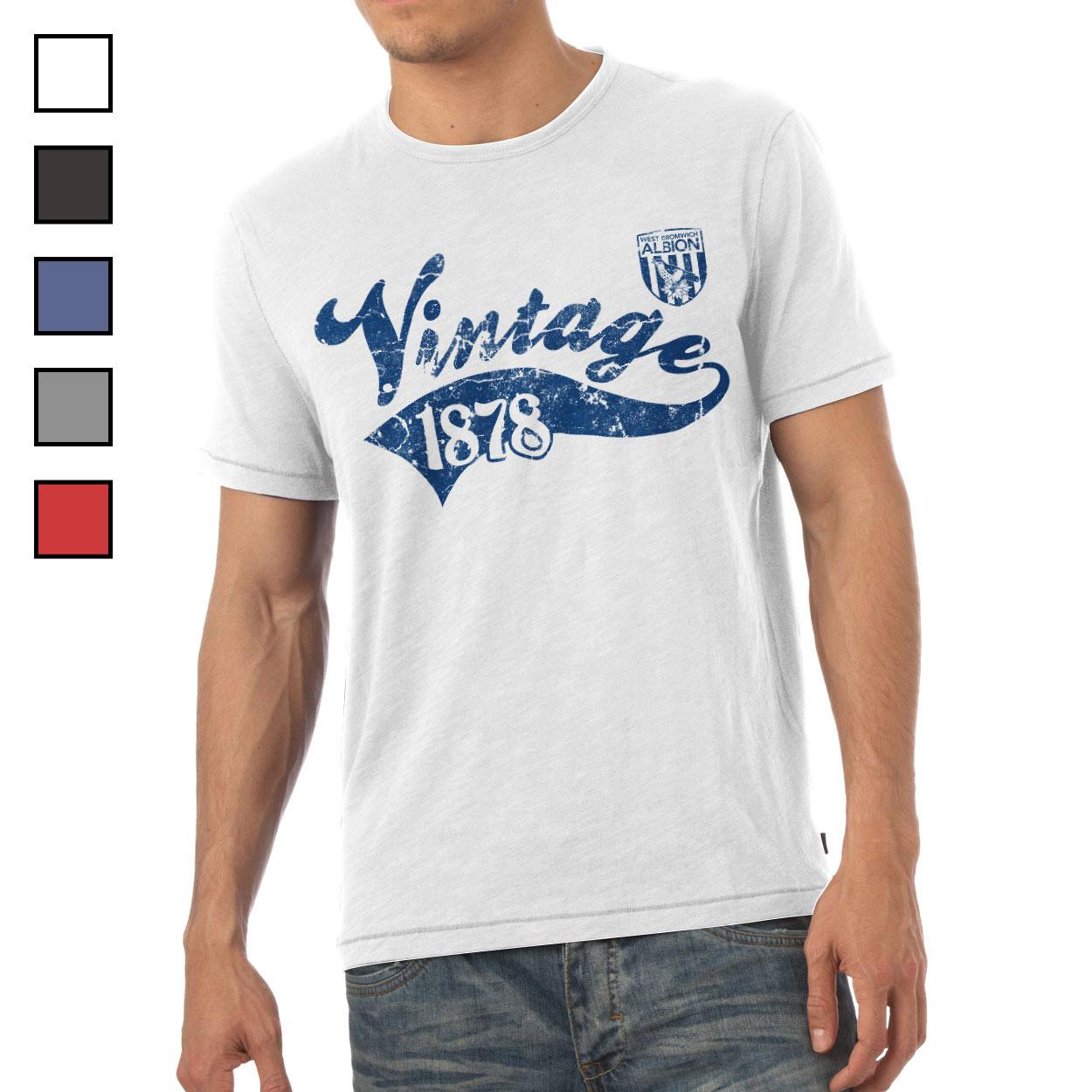 West Bromwich Albion FC Mens Vintage T-Shirt