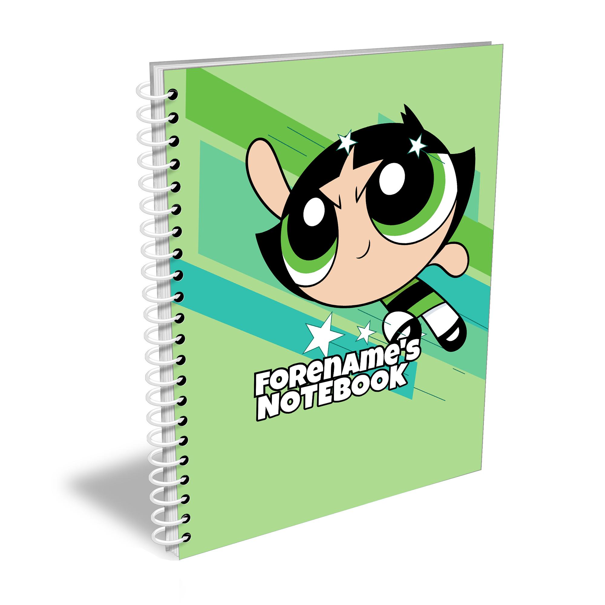 Powerpuff Girls Buttercup Comic A4 Notebook
