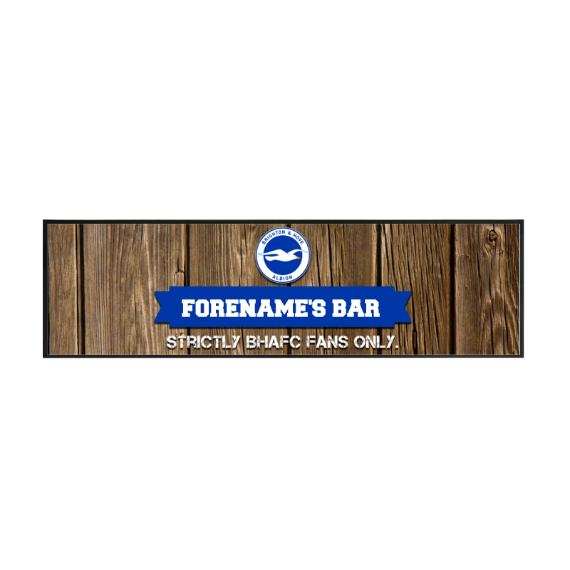 Brighton & Hove Albion FC Wood Name Large Bar Runner