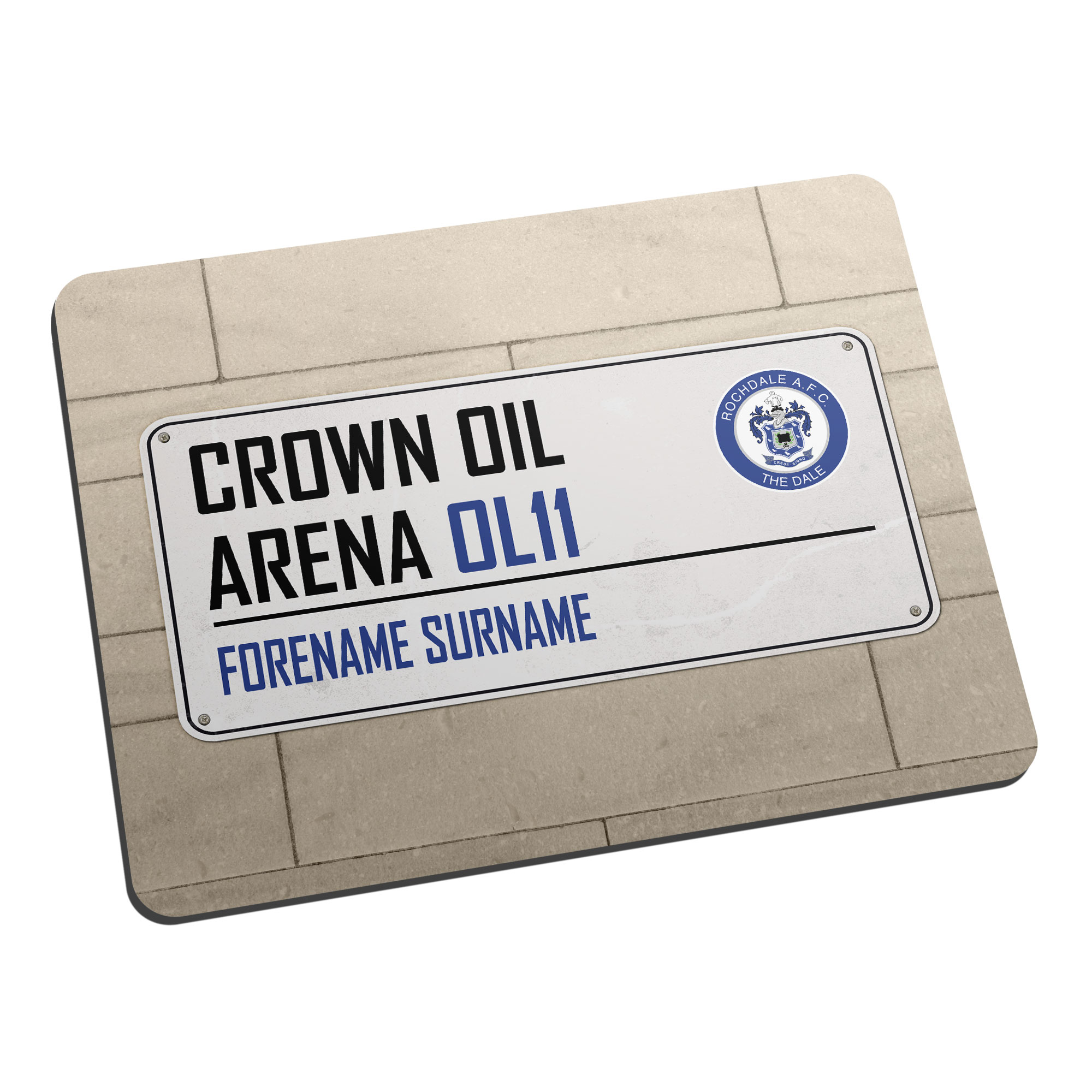 Rochdale AFC Street Sign Mouse Mat