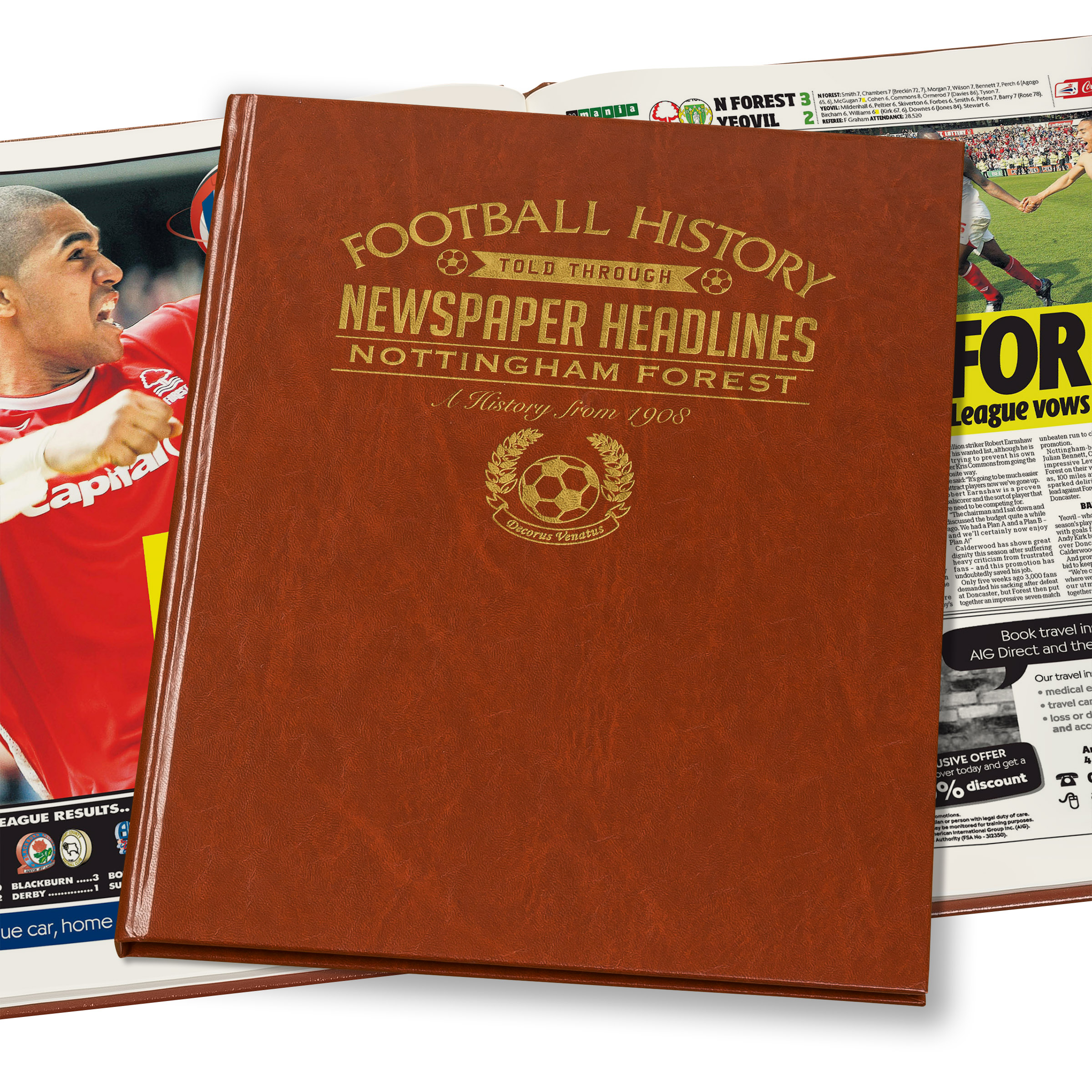 Nottingham Forest Newspaper Book (Colour Pages)