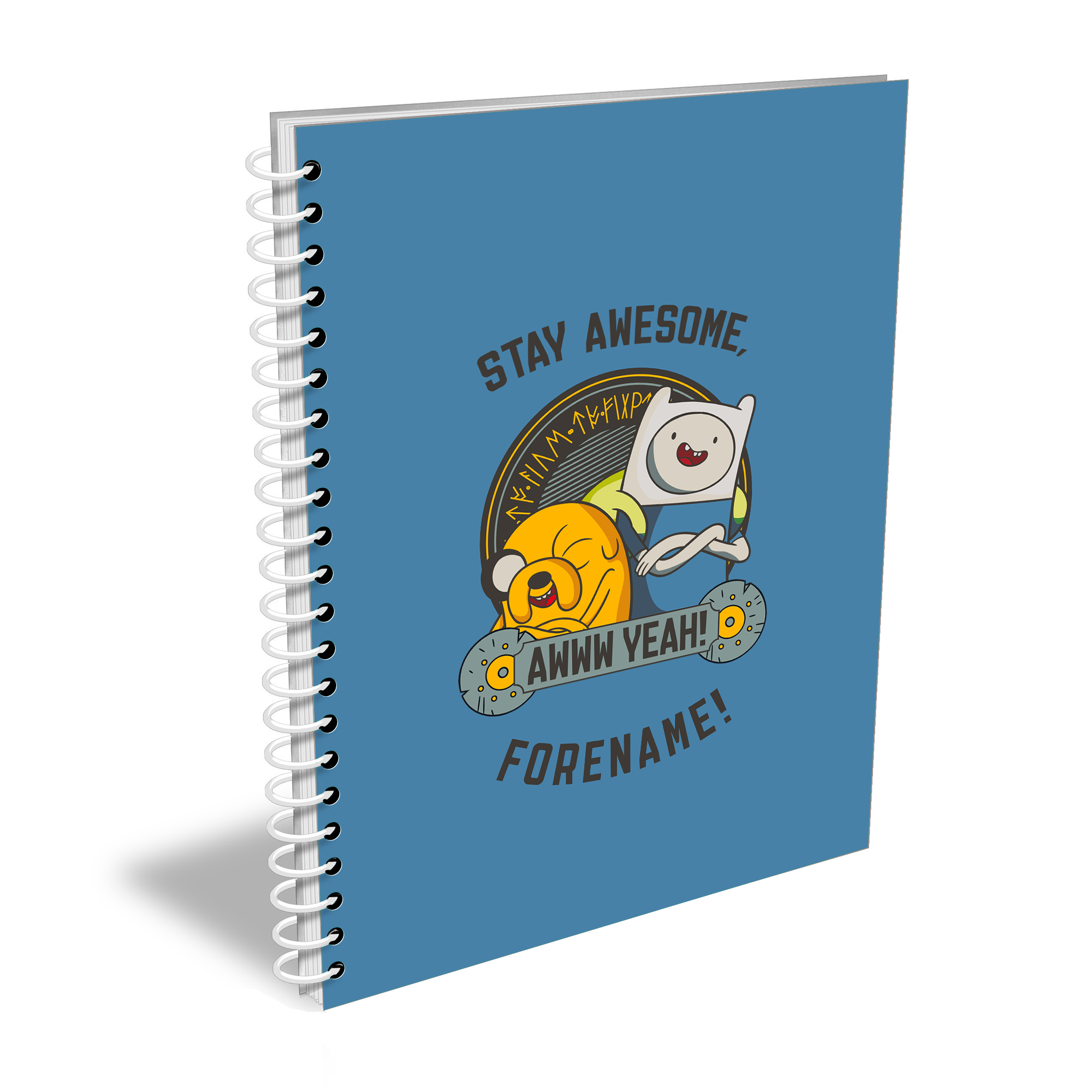 Adventure Time Stay Awesome Notebook A4