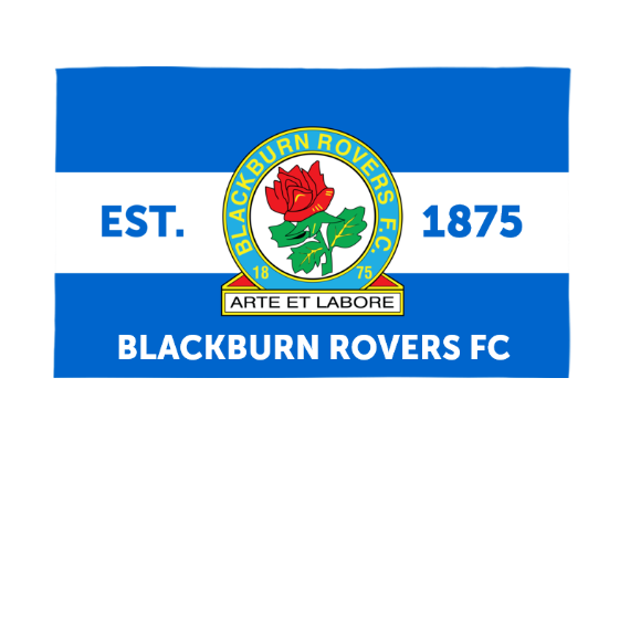 Blackburn Rovers Supporters 5ft x 3ft Banner