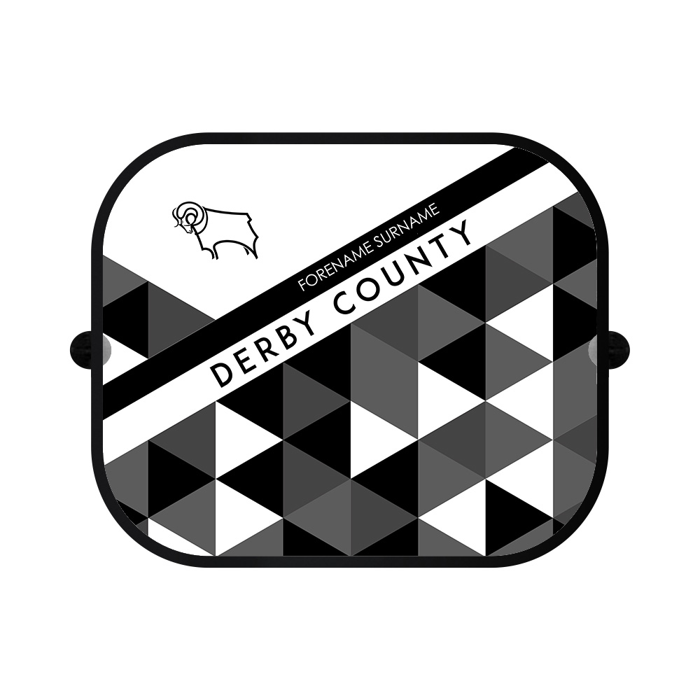 Derby County Patterned Car Sunshade