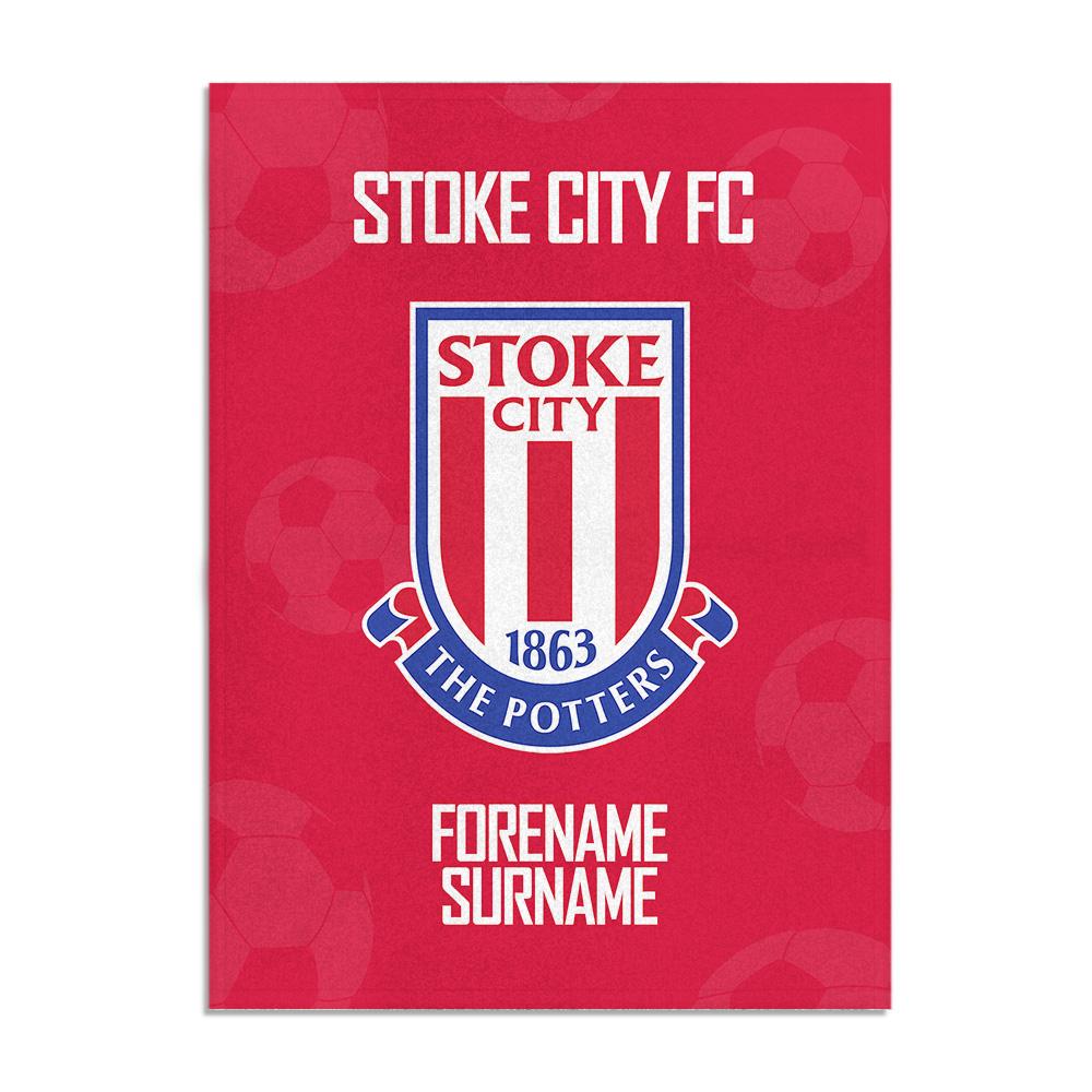 Stoke City FC Crest Blanket (100cm X 75cm)