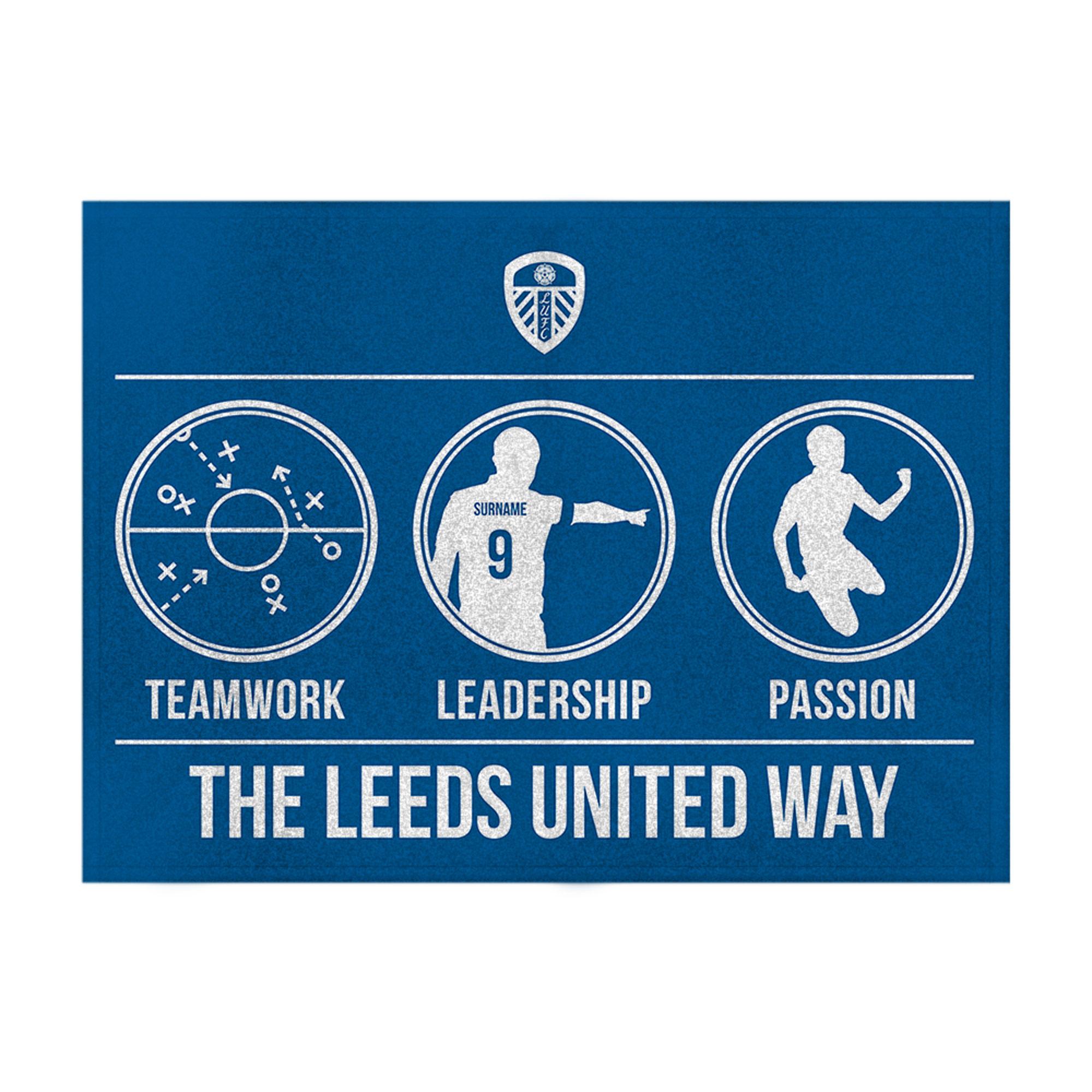 Leeds United FC Way Blanket (150cm x 110cm)