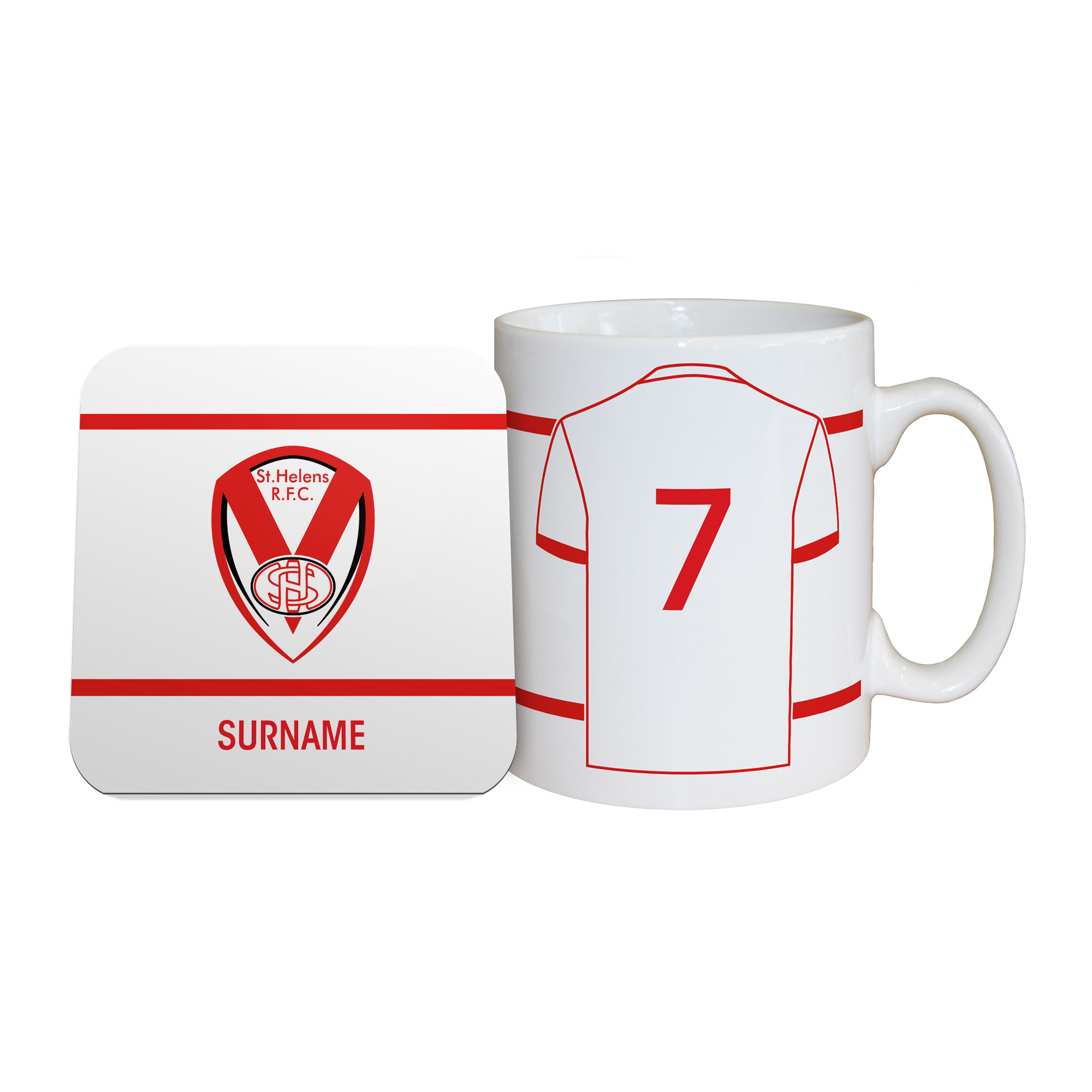 St Helens Shirt Mug & Coaster Set